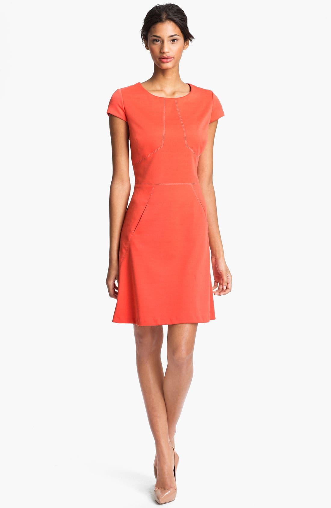 Main Image - Donna Ricco Short Sleeve A-Line Dress