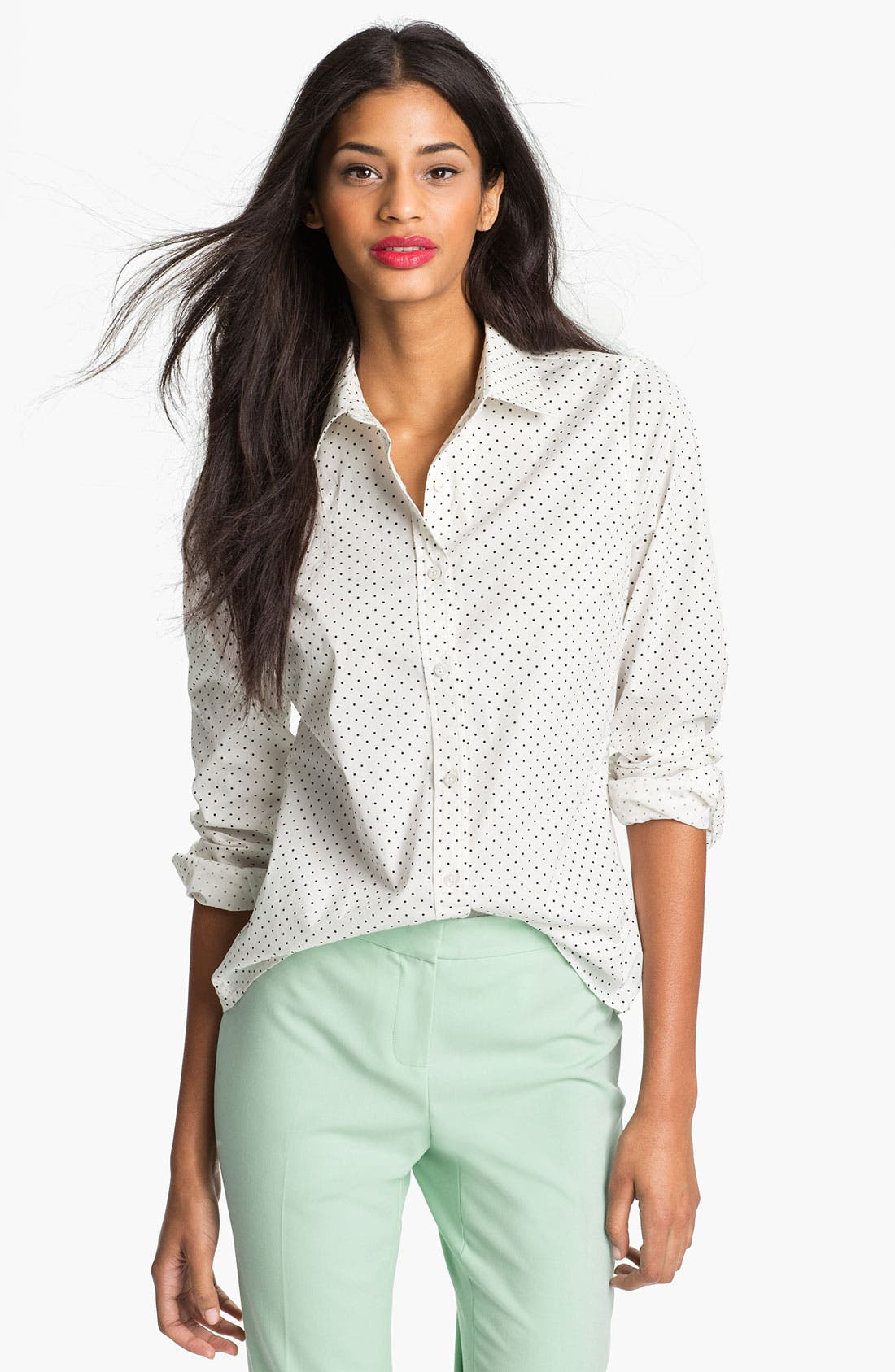 Alternate Image 1 Selected - Current Affair Polka Dot Shirt