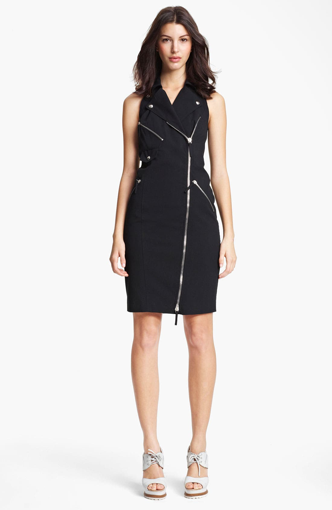 Alternate Image 1 Selected - Jean Paul Gaultier Zip Detail Gabardine Dress