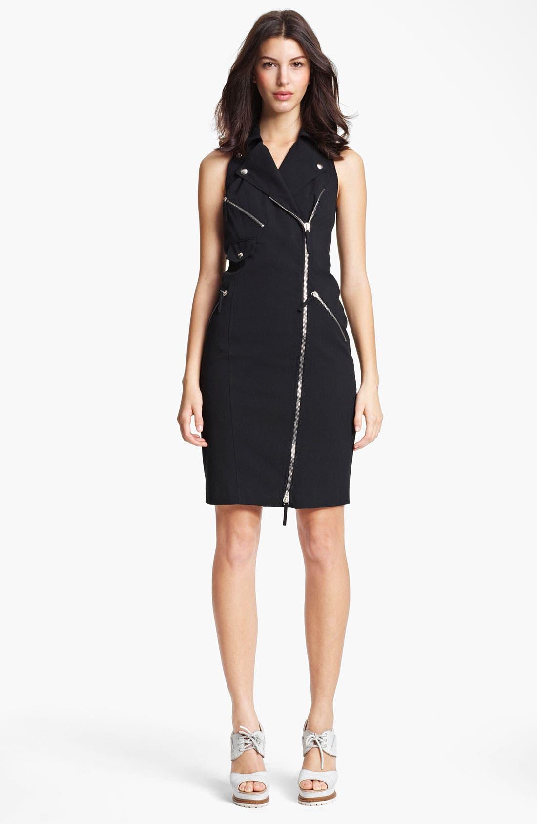 Main Image - Jean Paul Gaultier Zip Detail Gabardine Dress