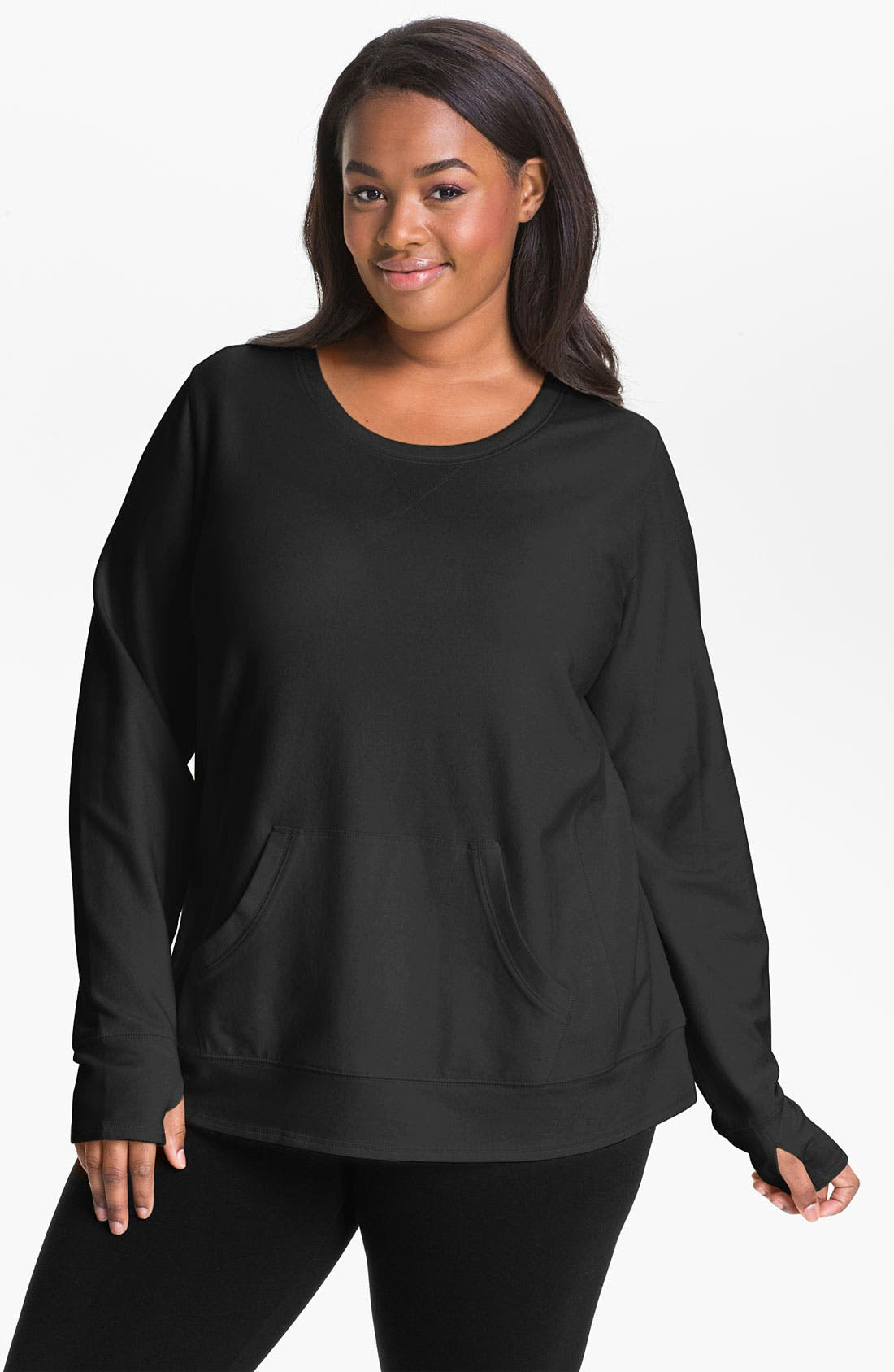 Main Image - Sejour Weekend French Terry Tunic (Plus)