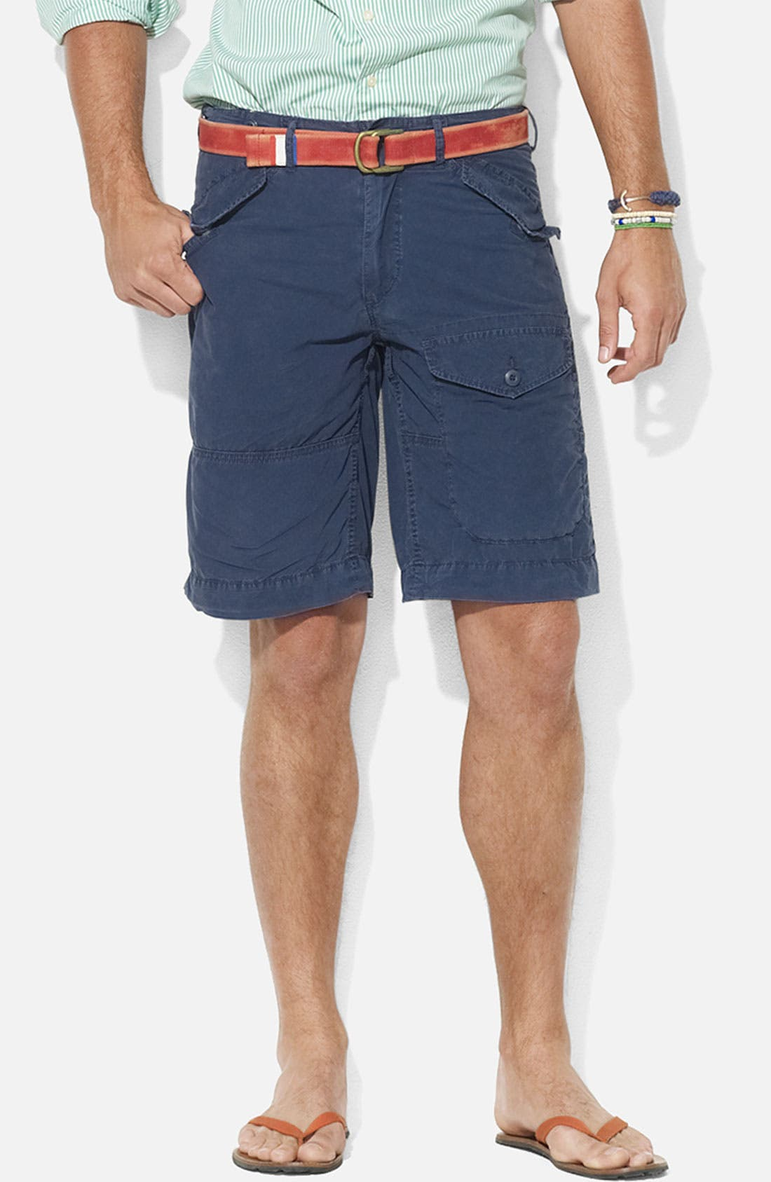 Alternate Image 1 Selected - Polo Ralph Lauren 'Authentic Observer' Flat Front Shorts