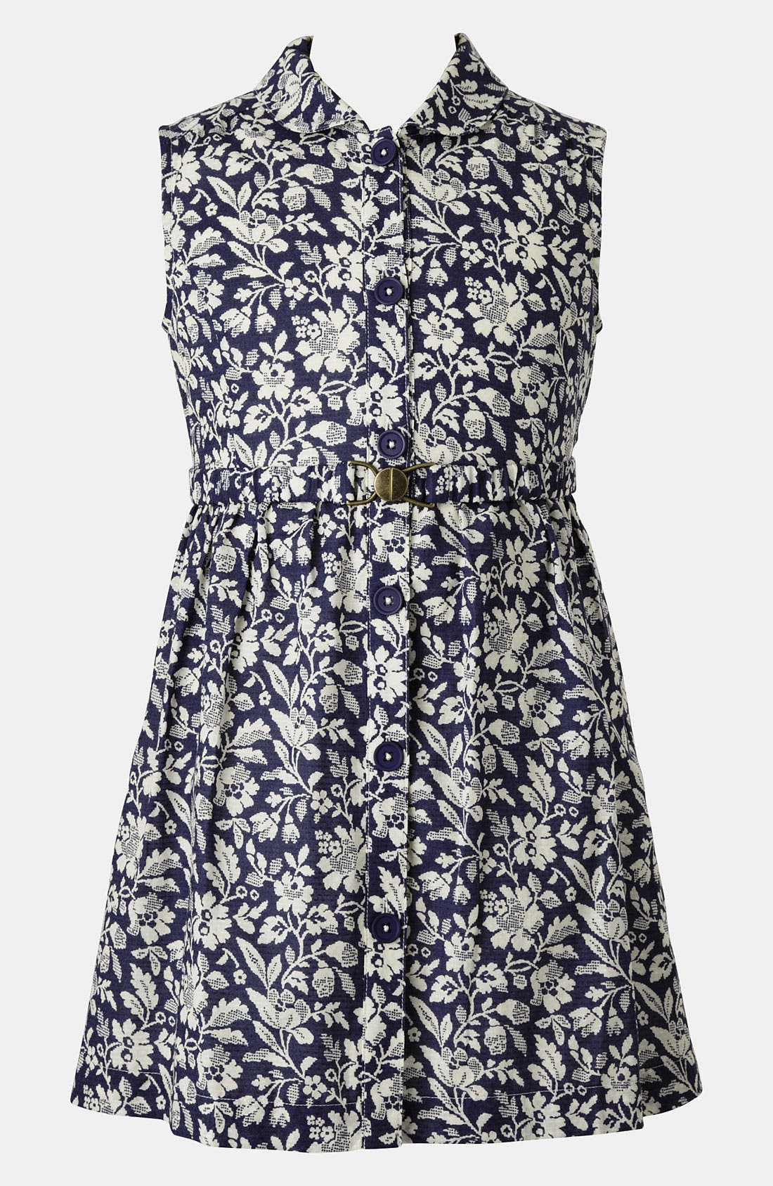 Main Image - Mini Boden 'Fifties' Shirtdress (Big Girls)