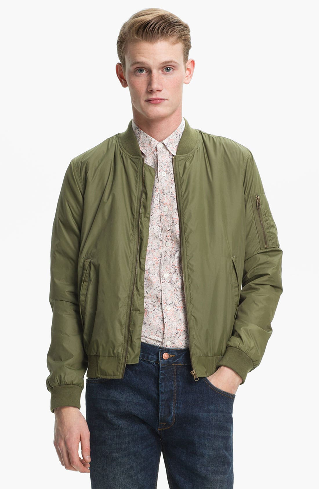 Alternate Image 1 Selected - Topman Bomber Jacket