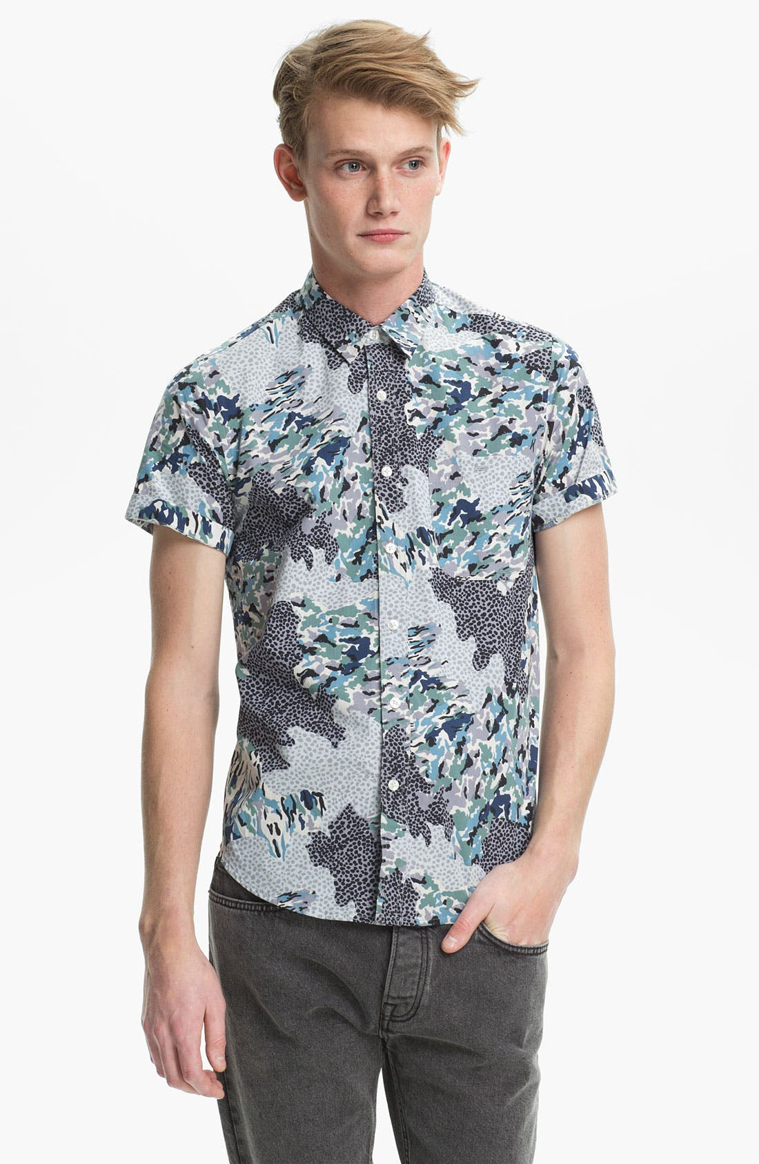 Alternate Image 1 Selected - Topman Pattern Print Shirt