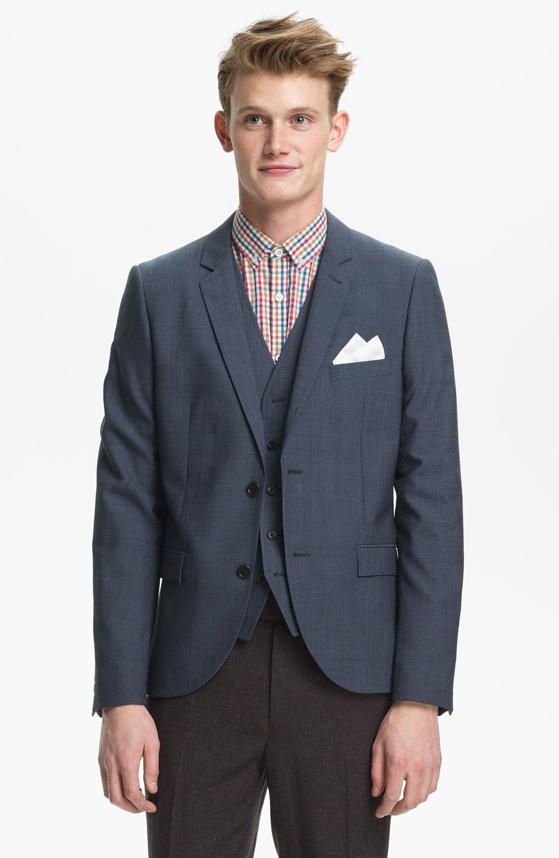 Alternate Image 1 Selected - Topman Skinny Blazer