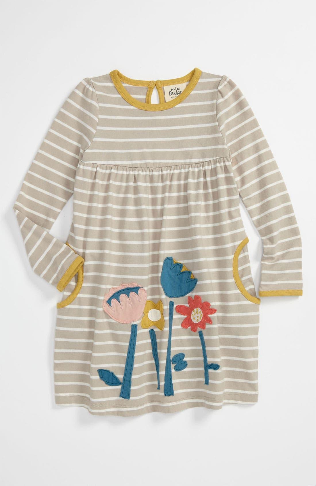 Main Image - Mini Boden 'Fun Appliqué' Dress (Toddler)