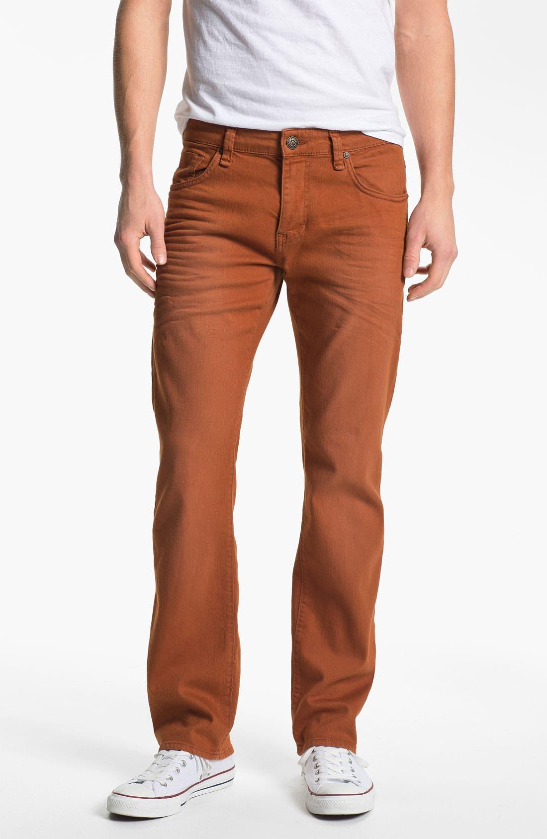 Alternate Image 2  - Mavi Jeans 'Zach' Straight Leg Jeans (Orange)