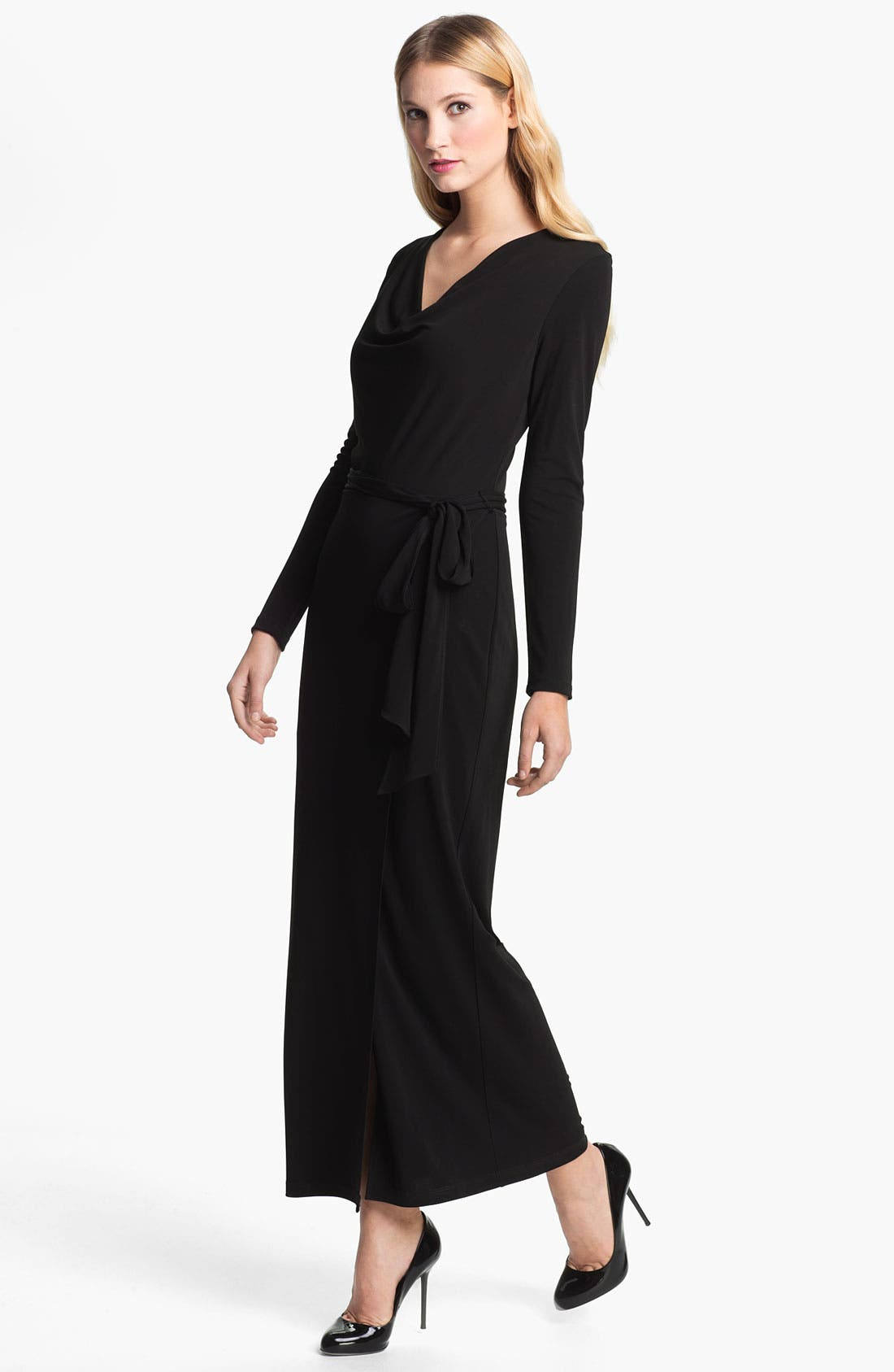 Alternate Image 1 Selected - Haute Hippie Drape Neck Maxi Dress