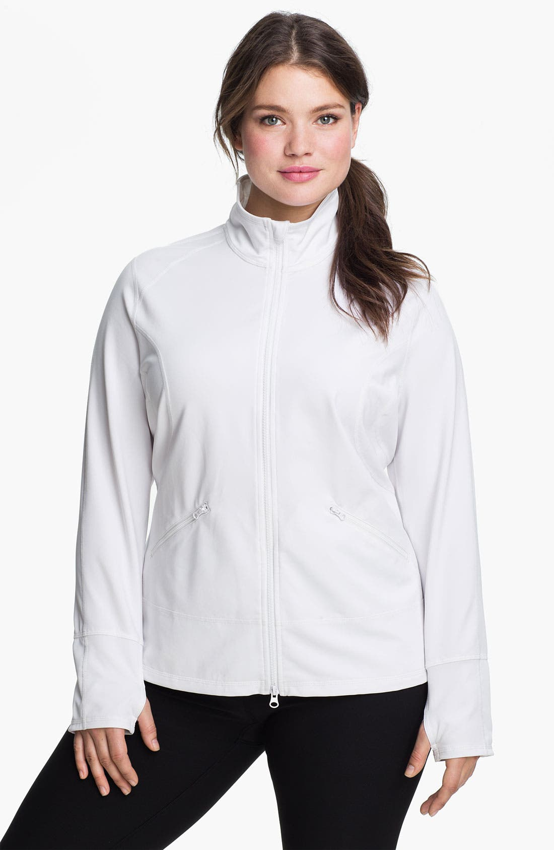 Main Image - Zella 'Streamline' Jacket (Plus Size)