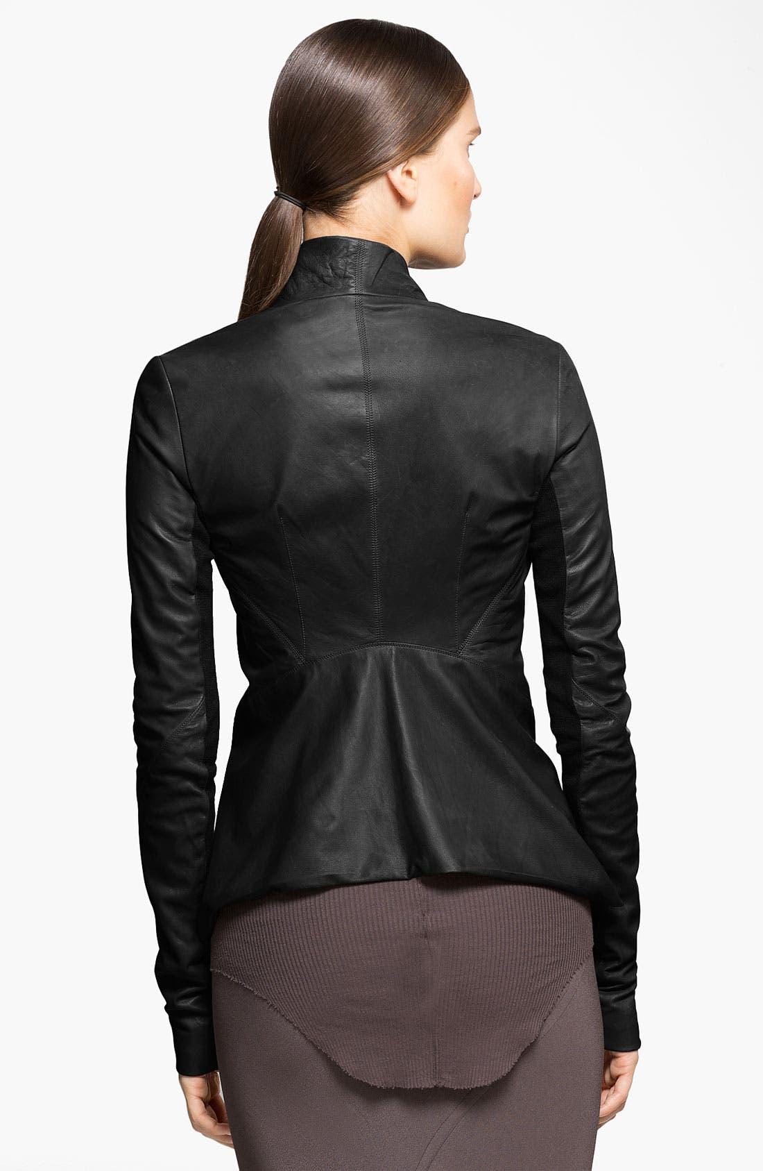 Alternate Image 2  - Rick Owens Blistered & Waxed Leather Jacket