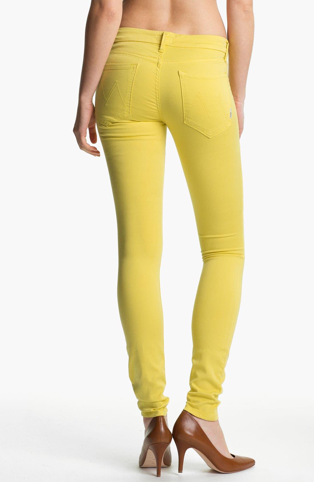 Alternate Image 2  - MOTHER 'The Looker' Skinny Stretch Jeans (Starfruit)