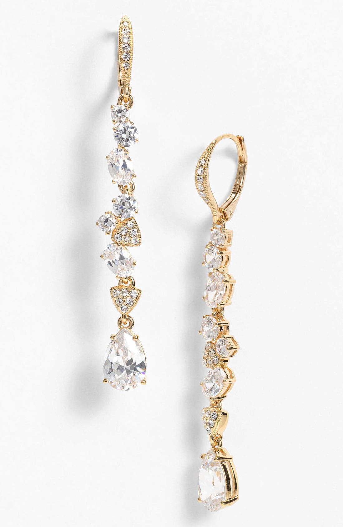Alternate Image 1 Selected - Nadri Cubic Zirconia Cluster Linear Earrings (Nordstrom Exclusive)