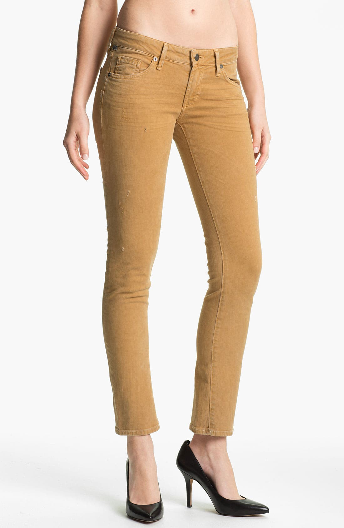 Alternate Image 1 Selected - Citizens of Humanity 'Racer' Crop Skinny Jeans (Biscuit)