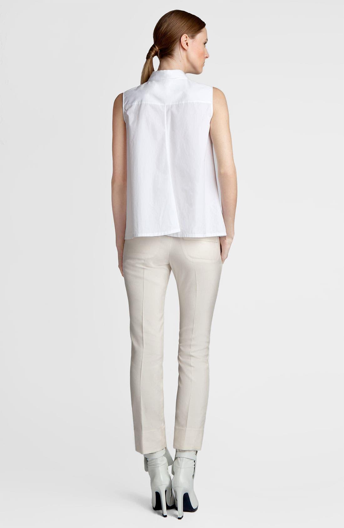 Alternate Image 4  - Jil Sander Sleeveless Poplin Shirt