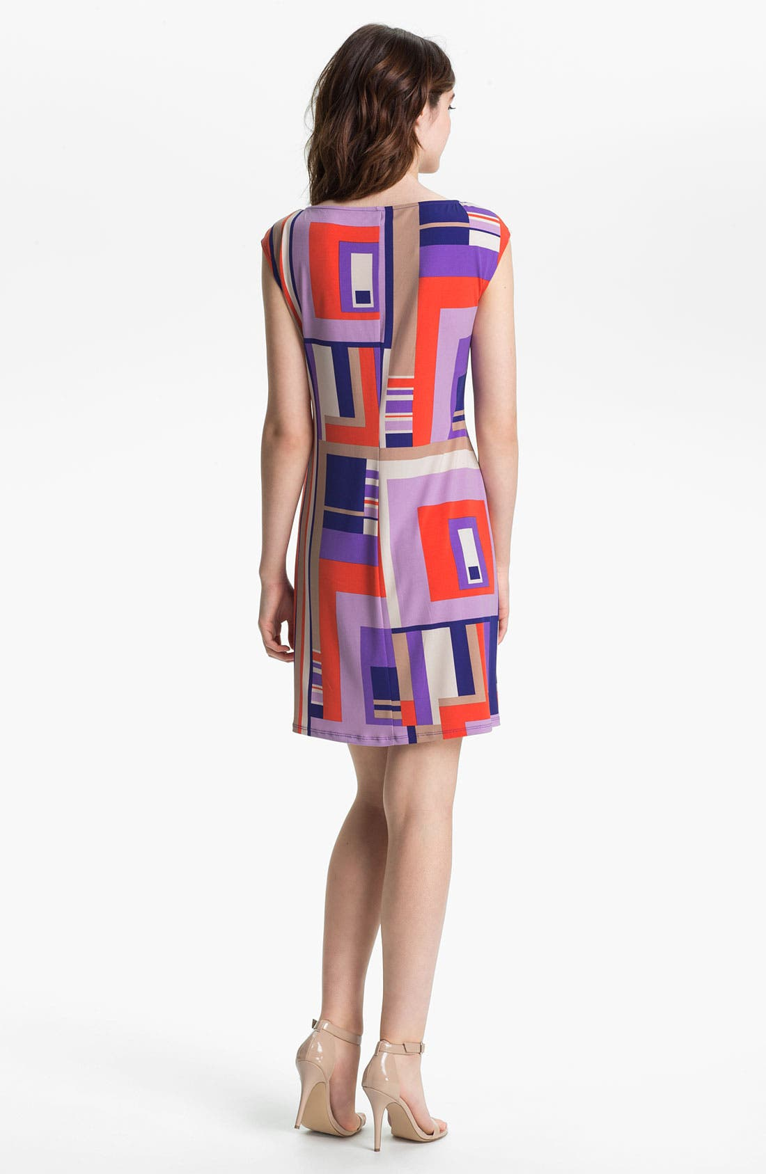 Alternate Image 2  - Donna Morgan Print Sheath Dress