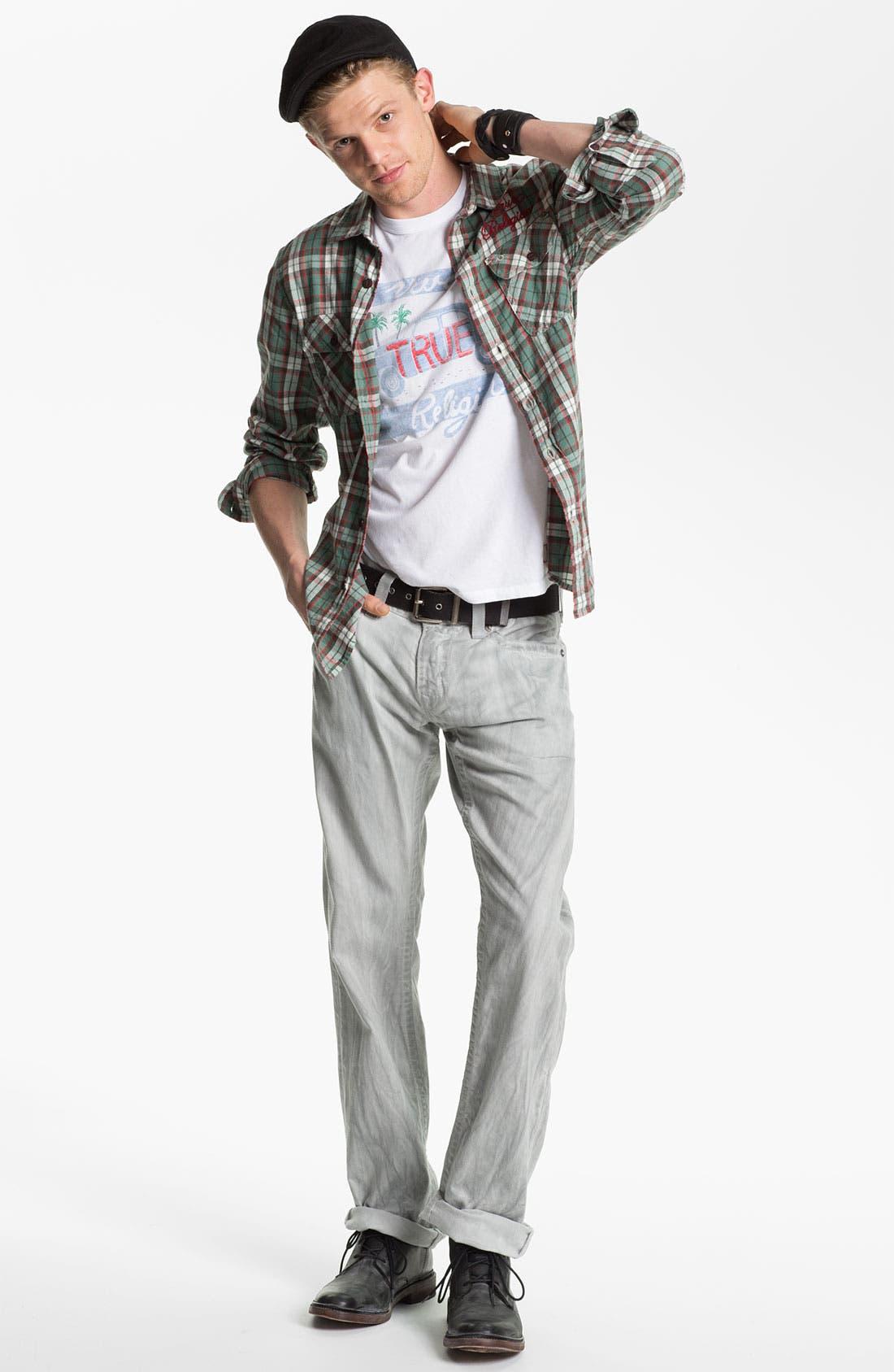Alternate Image 5  - True Religion Brand Jeans 'Ricky' Straight Leg Jeans (Pebble)
