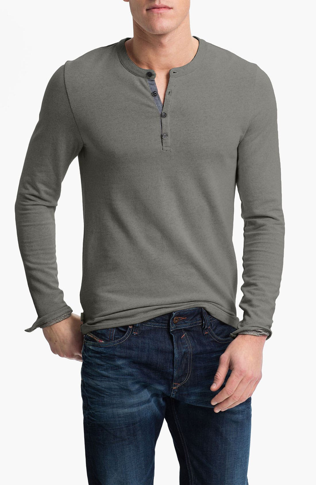Alternate Image 1 Selected - R44 Rogan Standard Issue Henley Sweatshirt