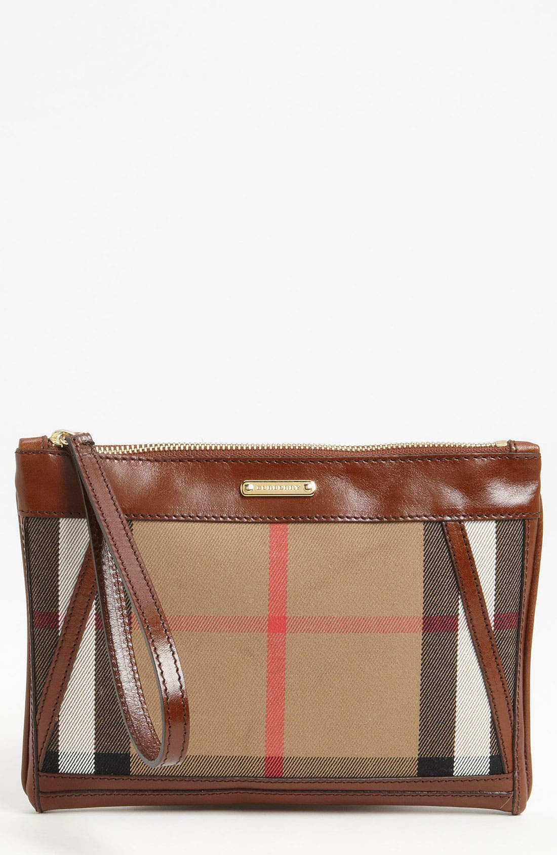 Alternate Image 1 Selected - Burberry 'House Check' Wristlet