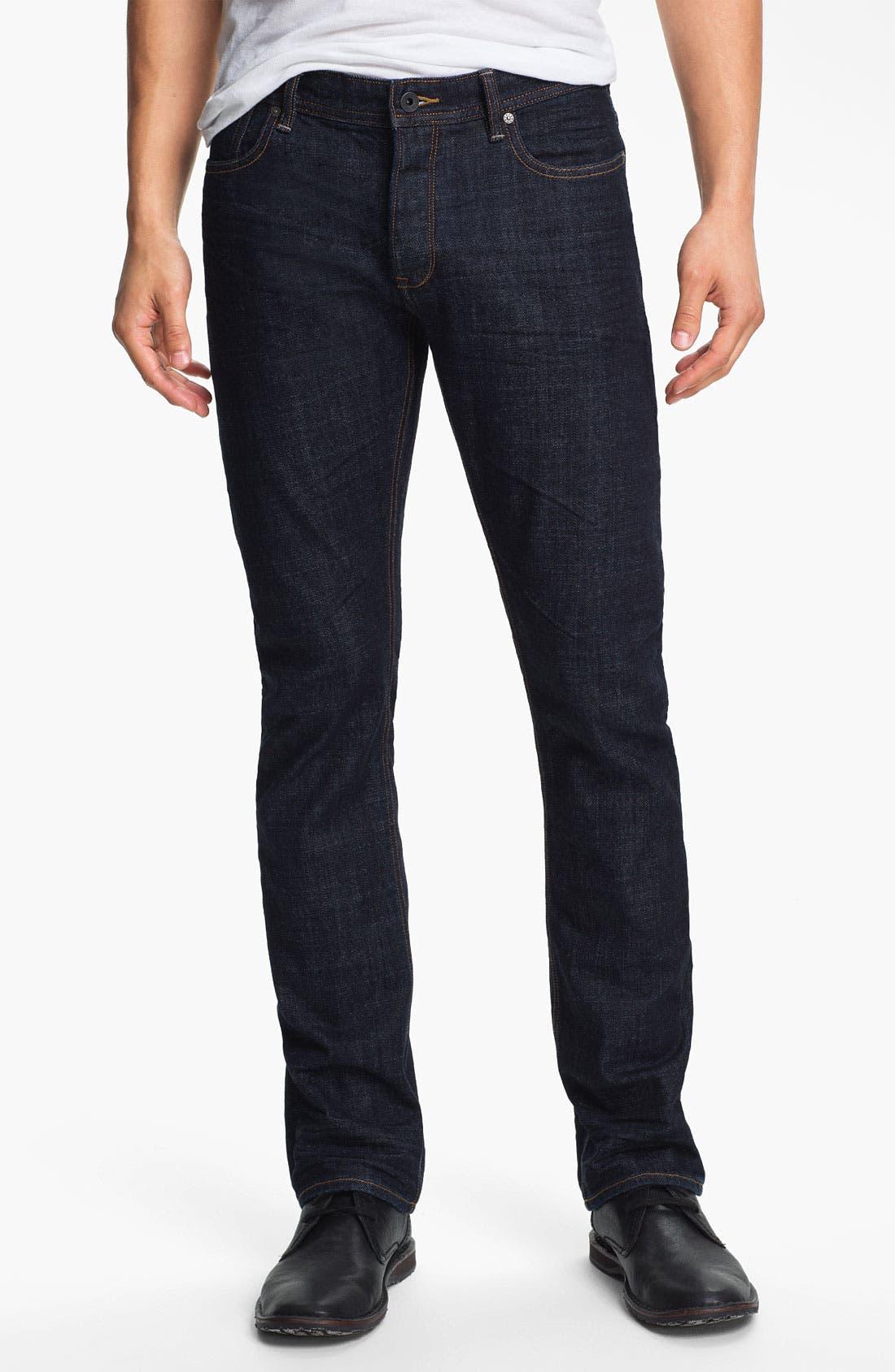 Alternate Image 1 Selected - John Varvatos Star USA Straight Leg Jeans (Indigo)