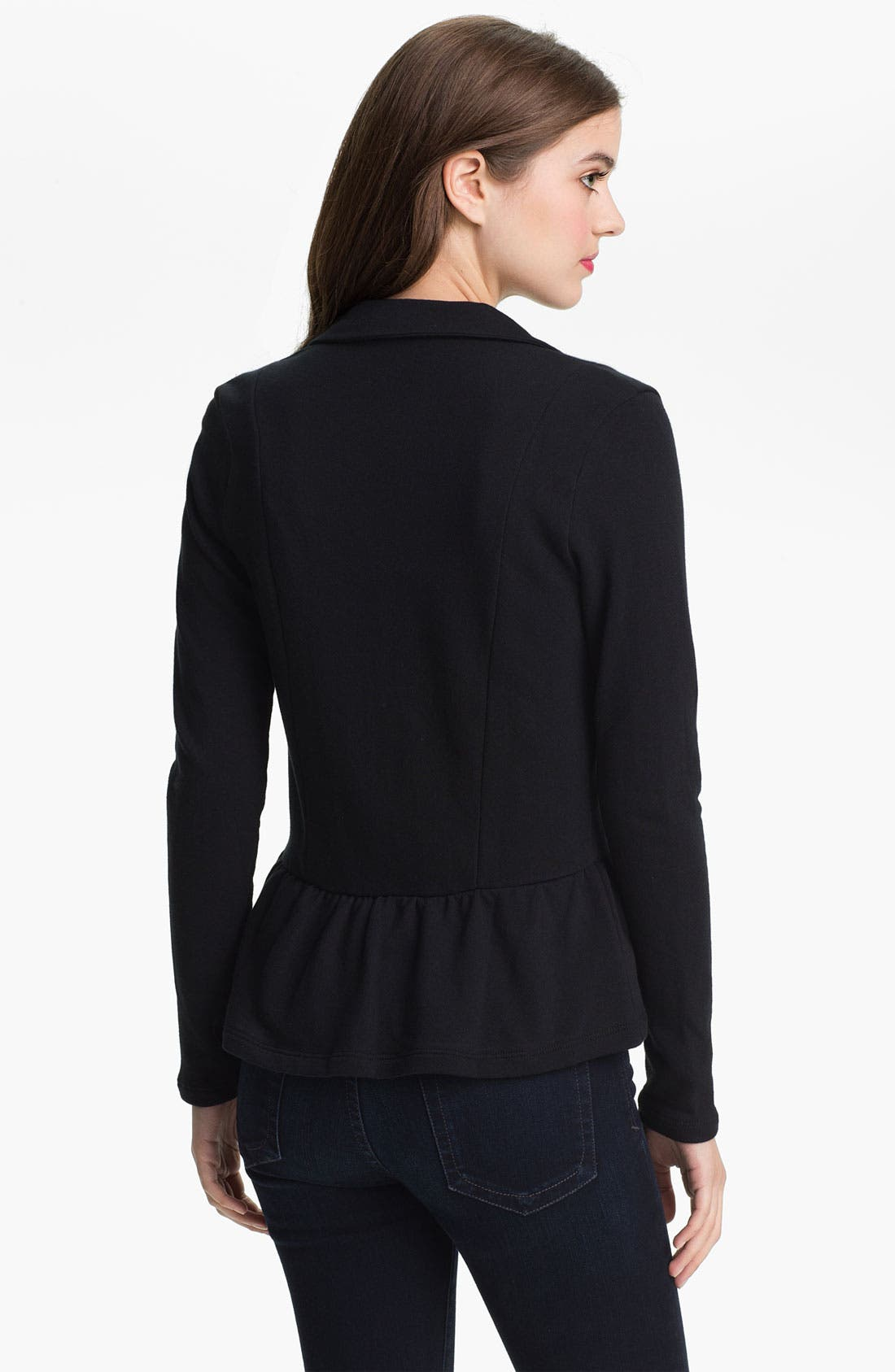 Alternate Image 2  - Olivia Moon Peplum Knit Blazer