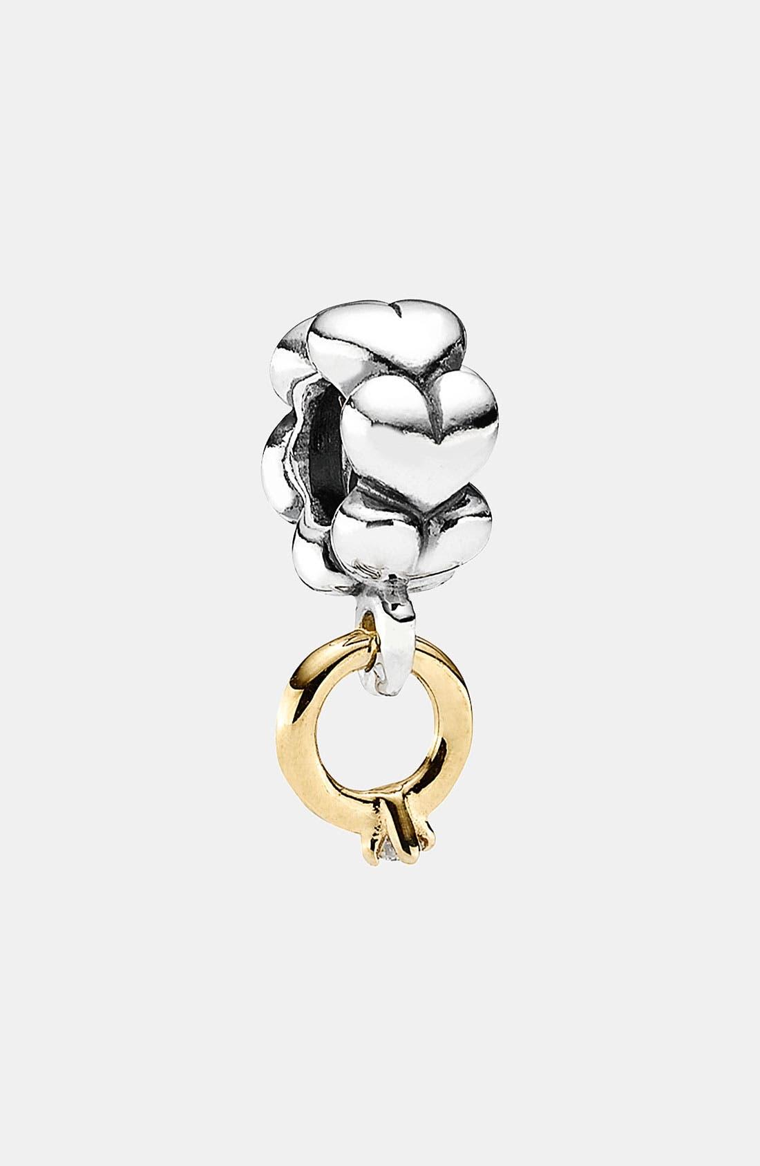 Alternate Image 1 Selected - PANDORA 'I Do' Diamond Dangle Charm