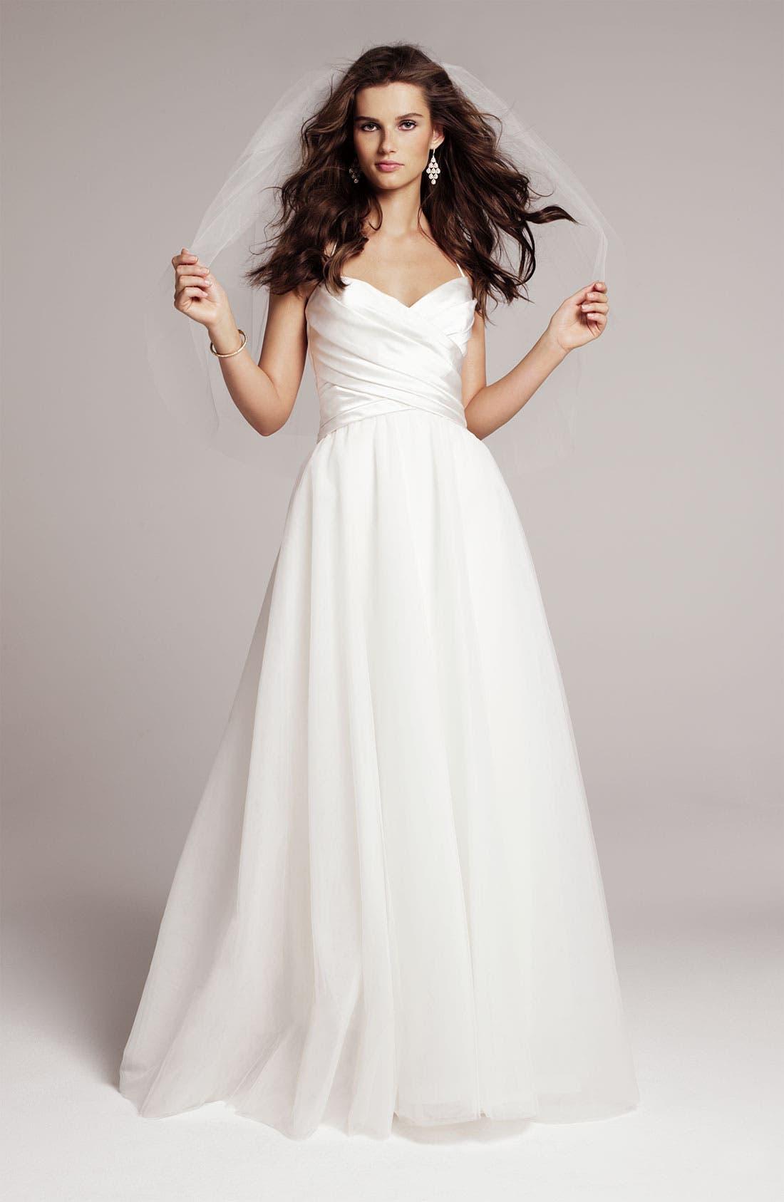 Main Image - Nouvelle Amsale Gown & Accessories