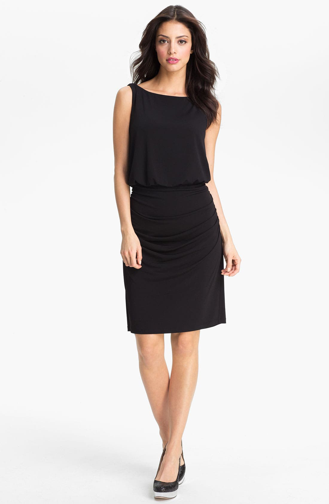 Main Image - Maggy London Embellished T-Back Draped Sheath Dress