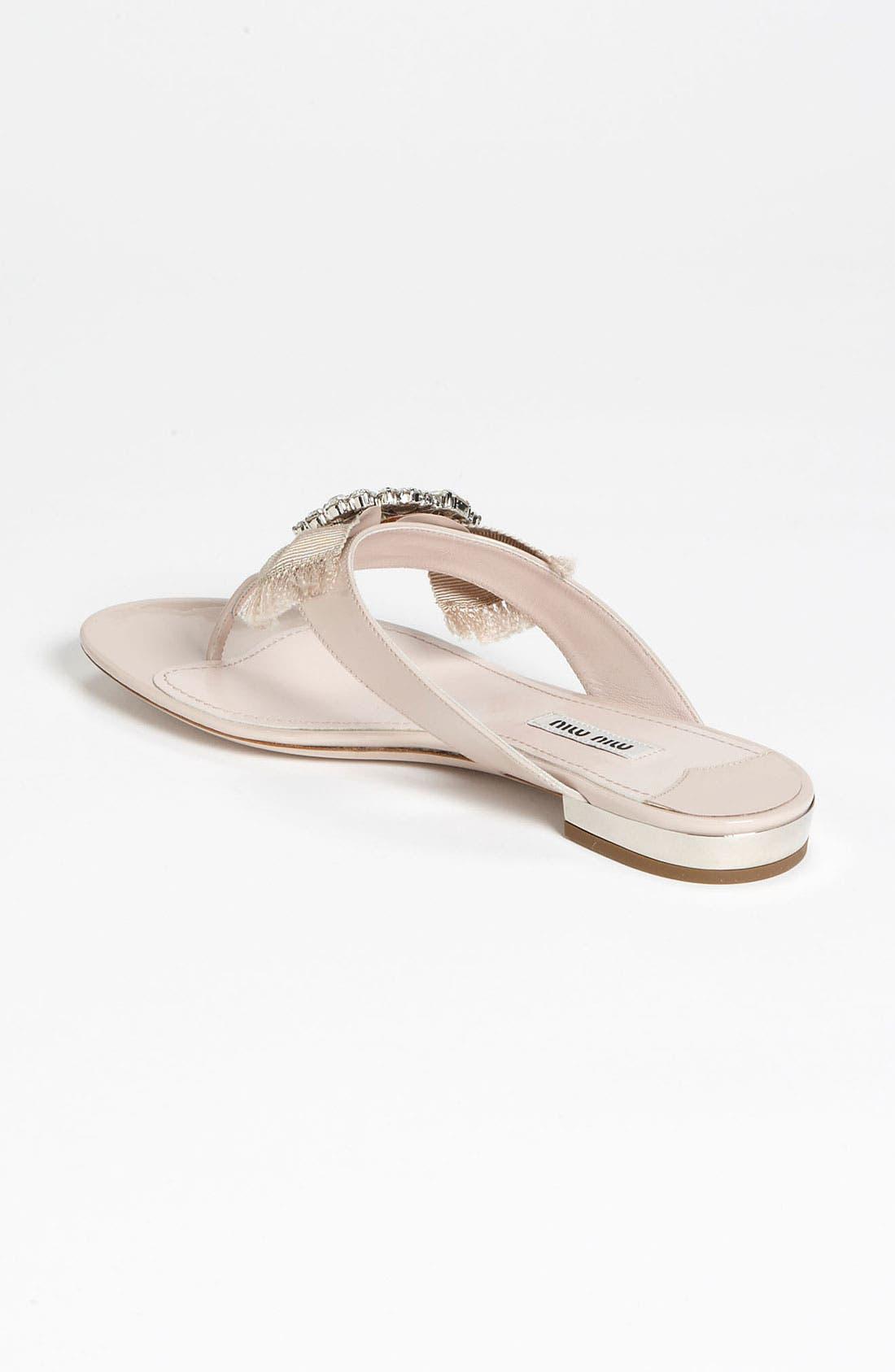 Alternate Image 2  - Miu Miu Crystal Bow Thong Sandal