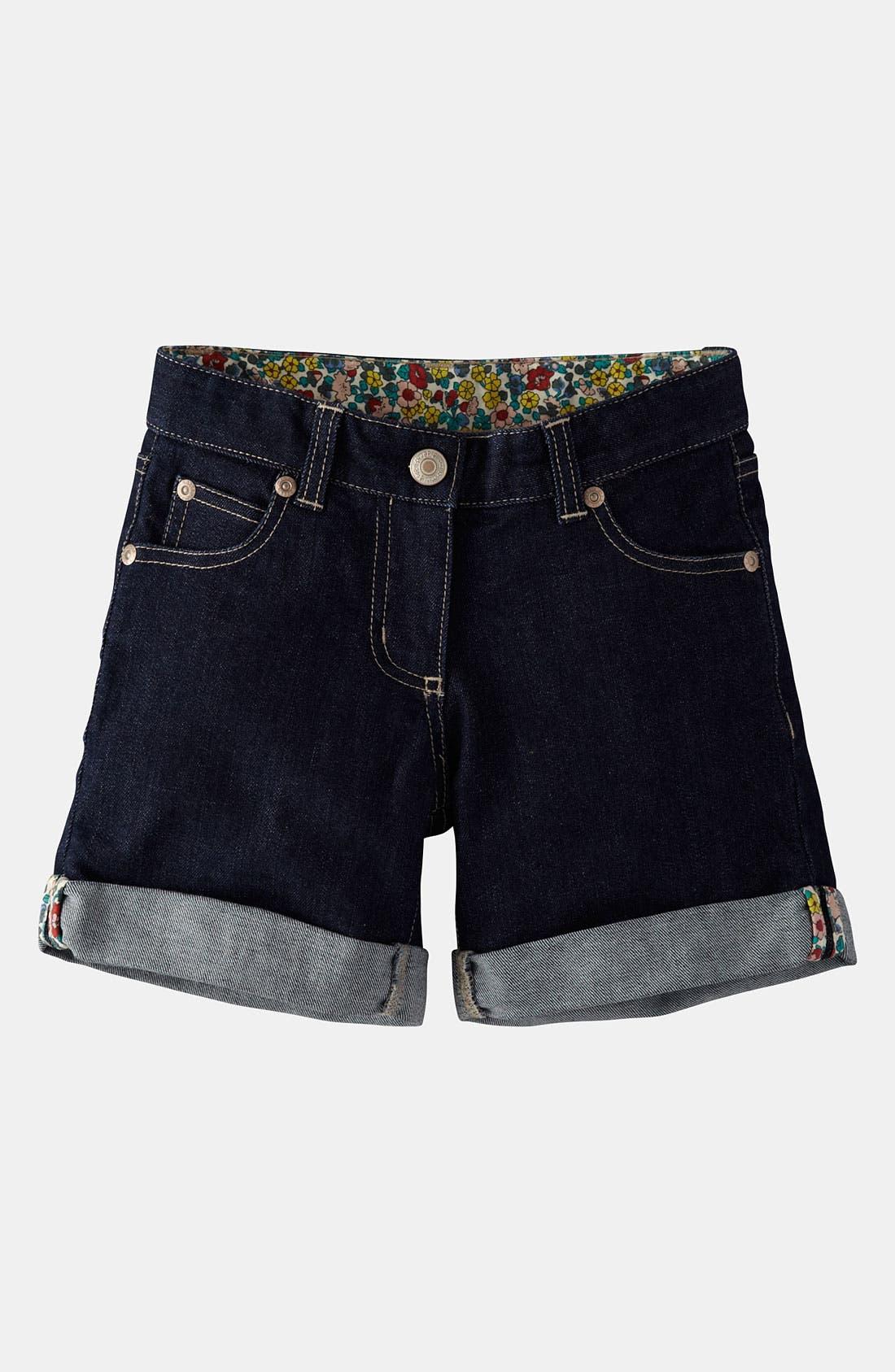 Alternate Image 1 Selected - Mini Boden 'Roll Up' Shorts (Little Girls & Big Girls)