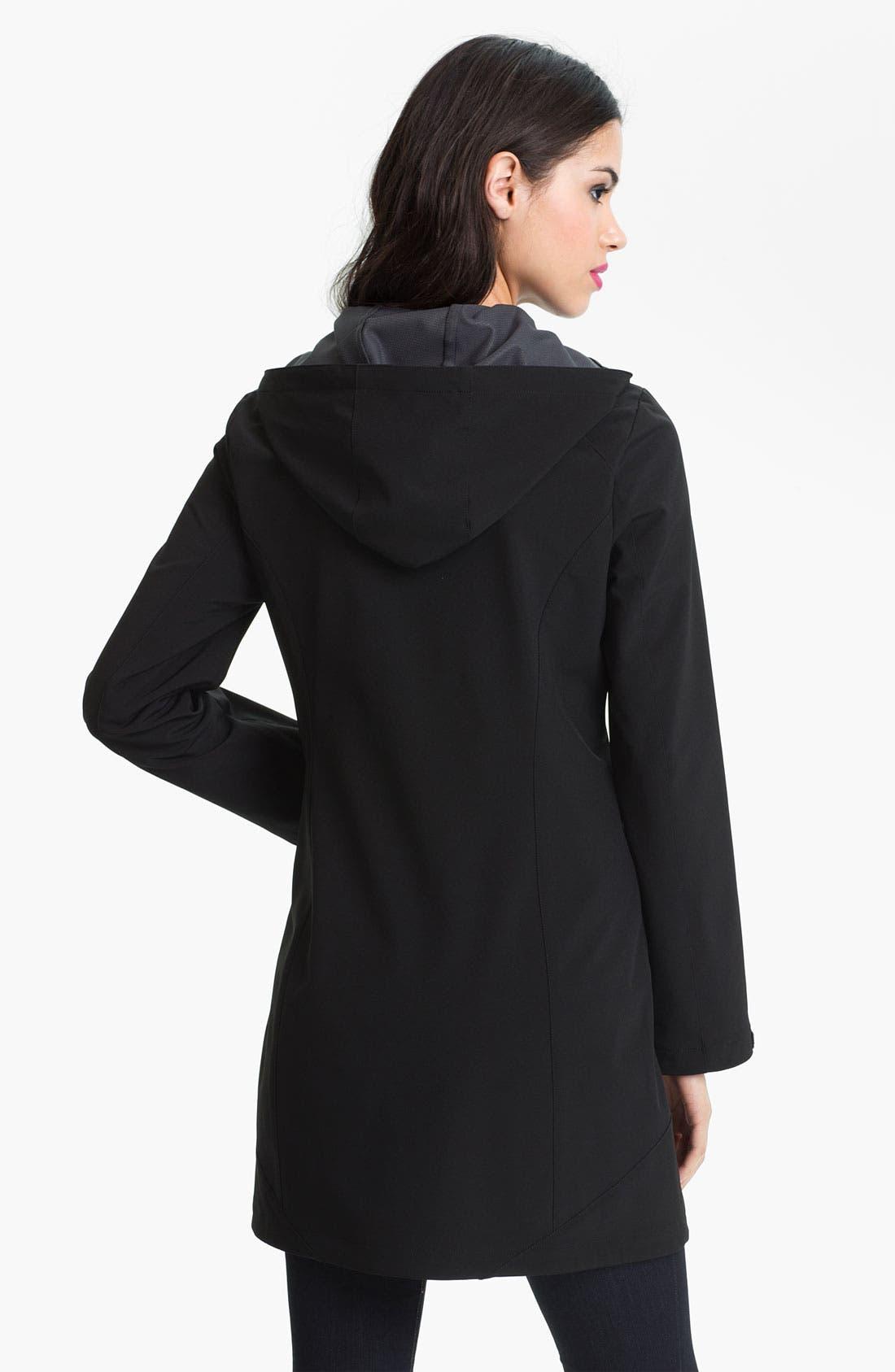 Alternate Image 2  - Calvin Klein Hooded Softshell Coat (Online Only)