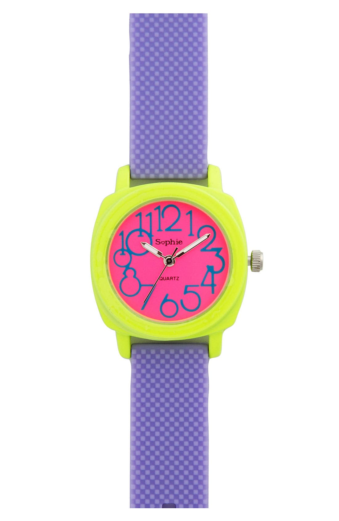 Alternate Image 1 Selected - Titanium Neon Strap Watch (Girls)