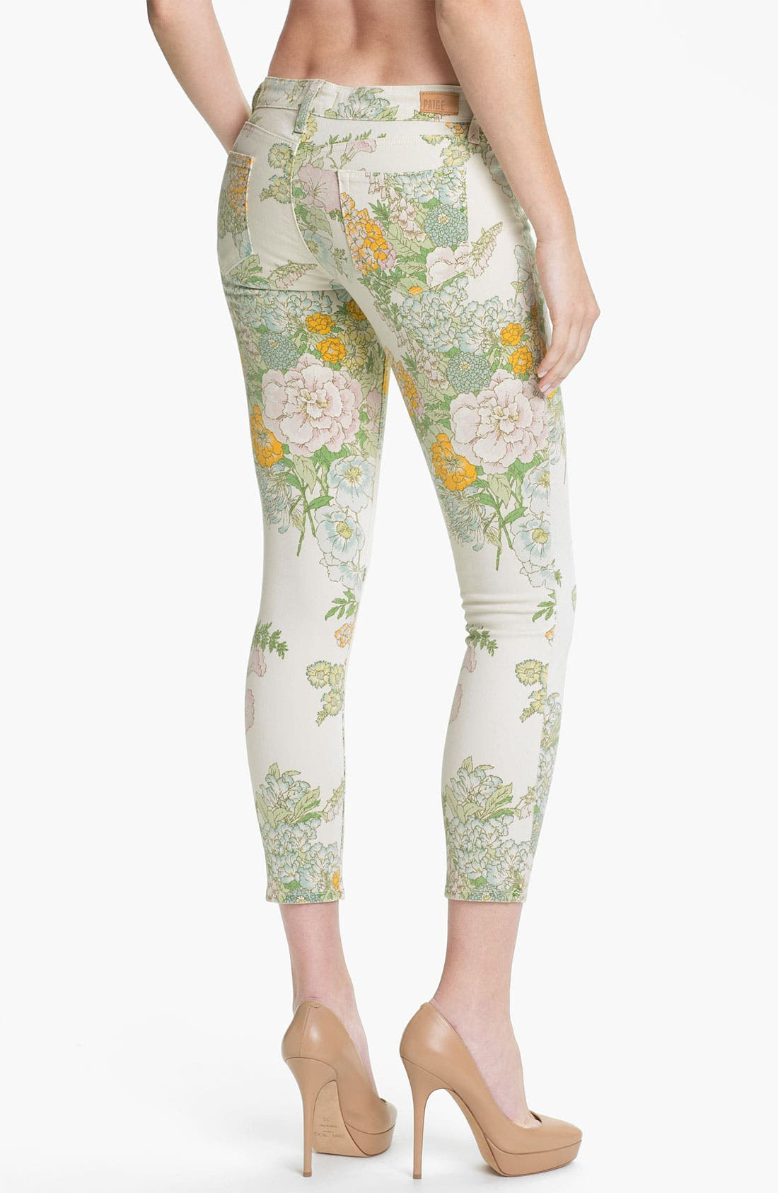 Alternate Image 2  - Paige Denim 'Verdugo' Print Skinny Jeans (Flea Market Floral)