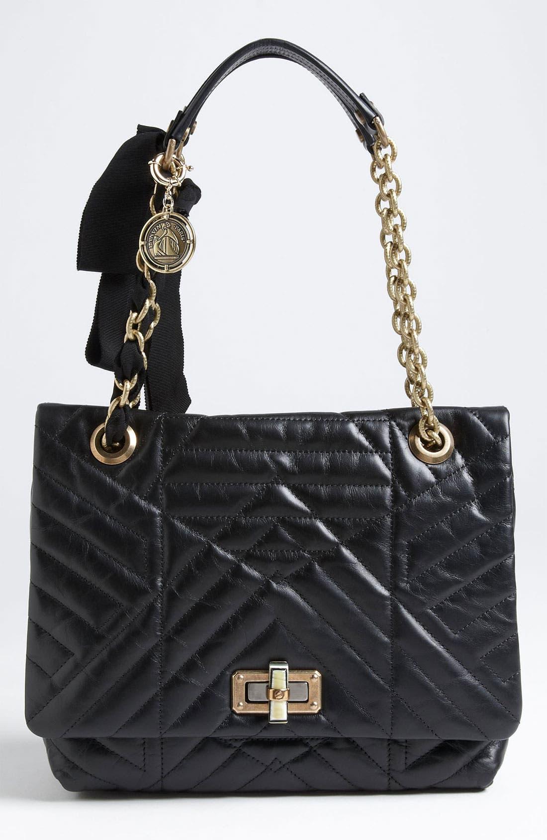 Alternate Image 1 Selected - Lanvin 'Happy' Quilted Leather Shoulder Bag