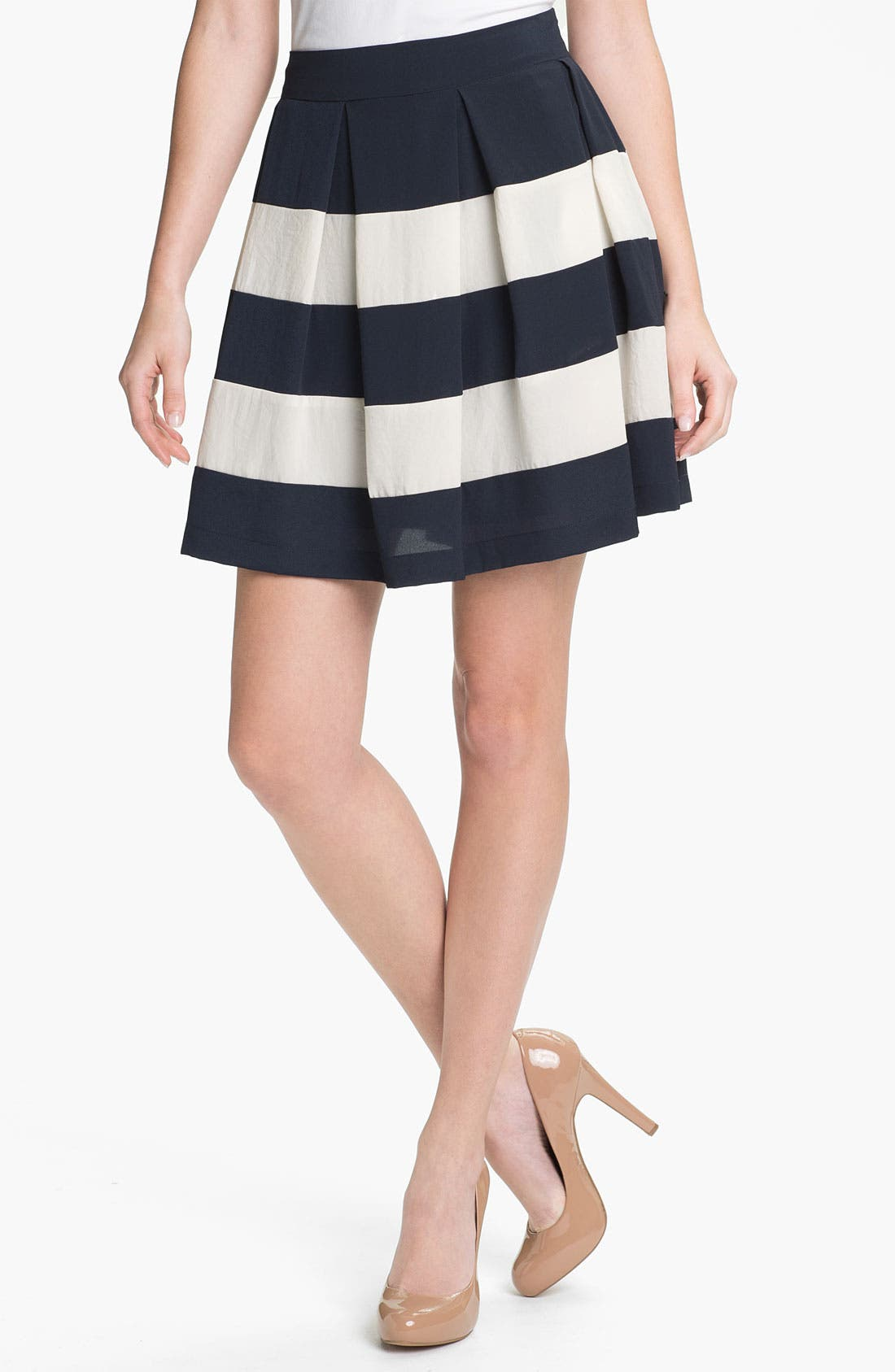 Alternate Image 1 Selected - Collective Concepts Stripe Skirt