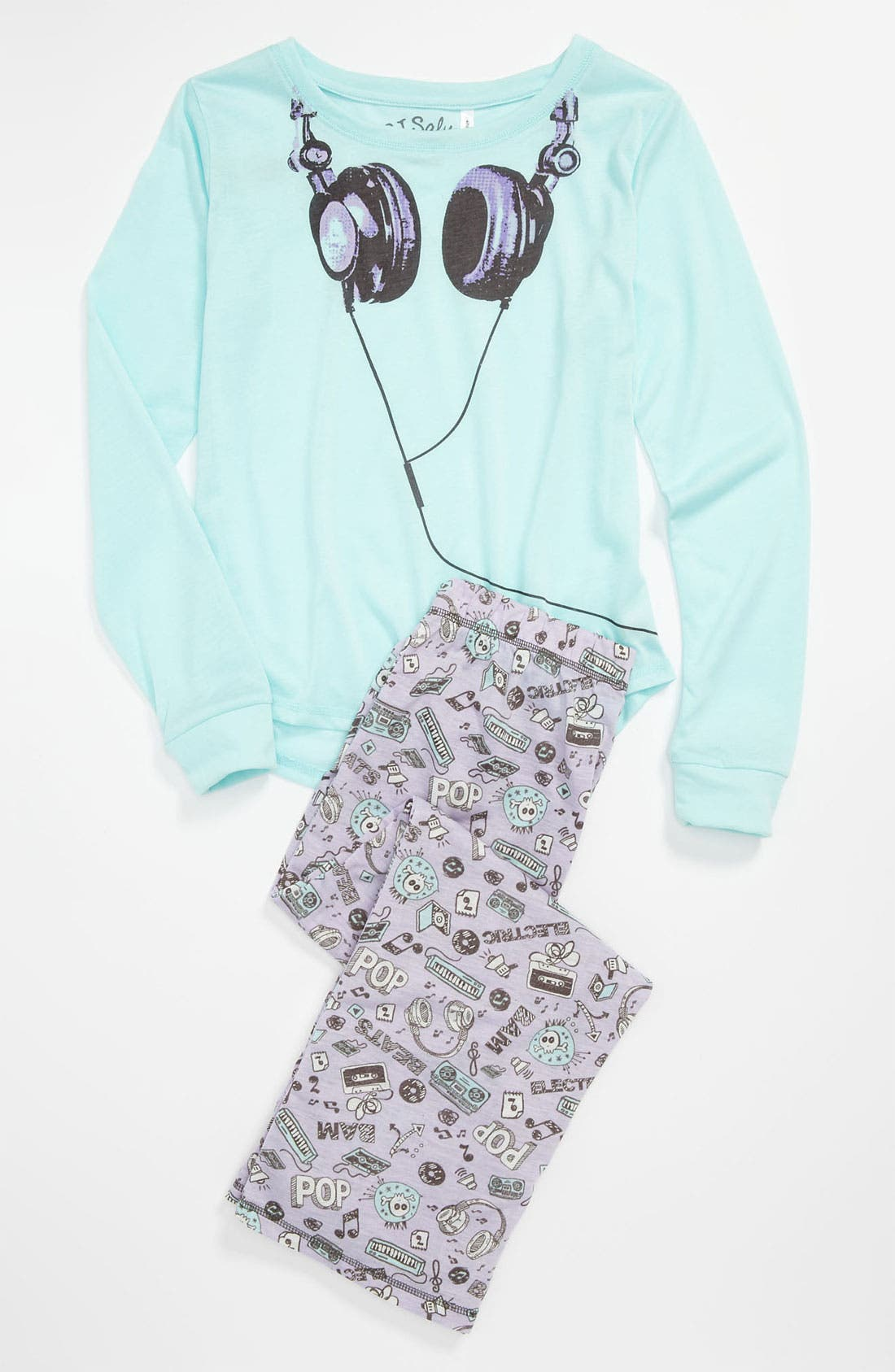 Main Image - PJ Salvage 'Headphones' Two Piece Pajamas (Little Girls & Big Girls)