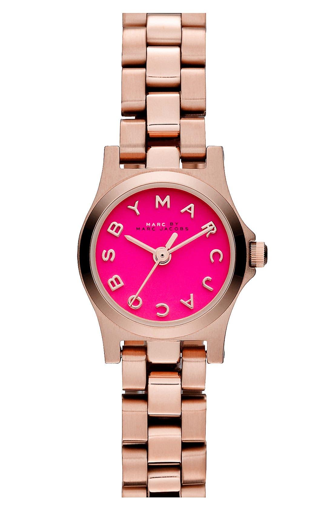 Alternate Image 1 Selected - MARC JACOBS 'Henry Dinky' Bracelet Watch, 20mm