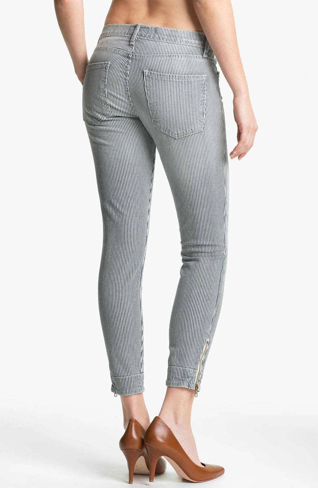 Alternate Image 2  - Current/Elliott 'The Quartermaster' Stripe Skinny Jeans