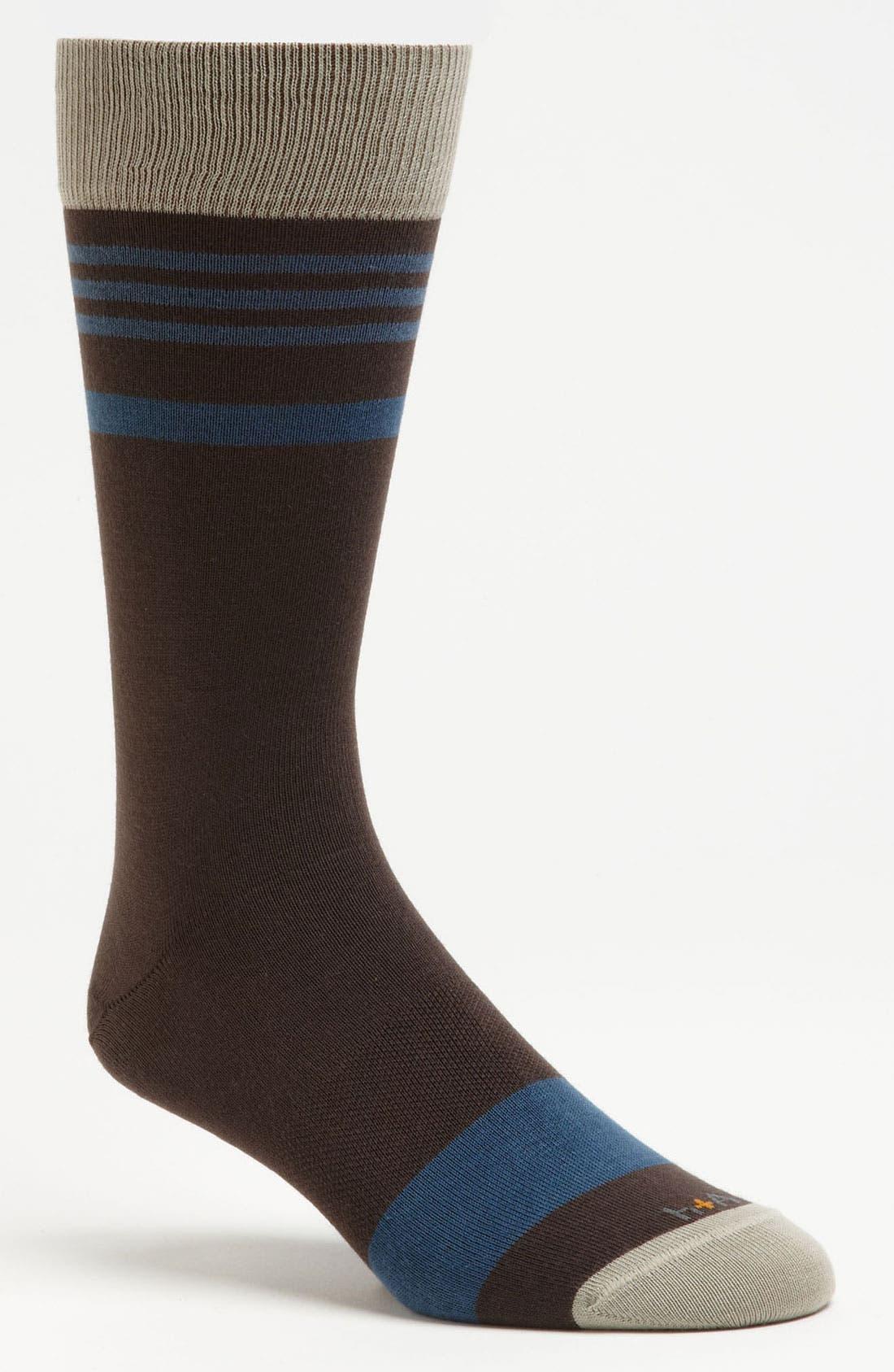 Main Image - hook + ALBERT Stripe Socks