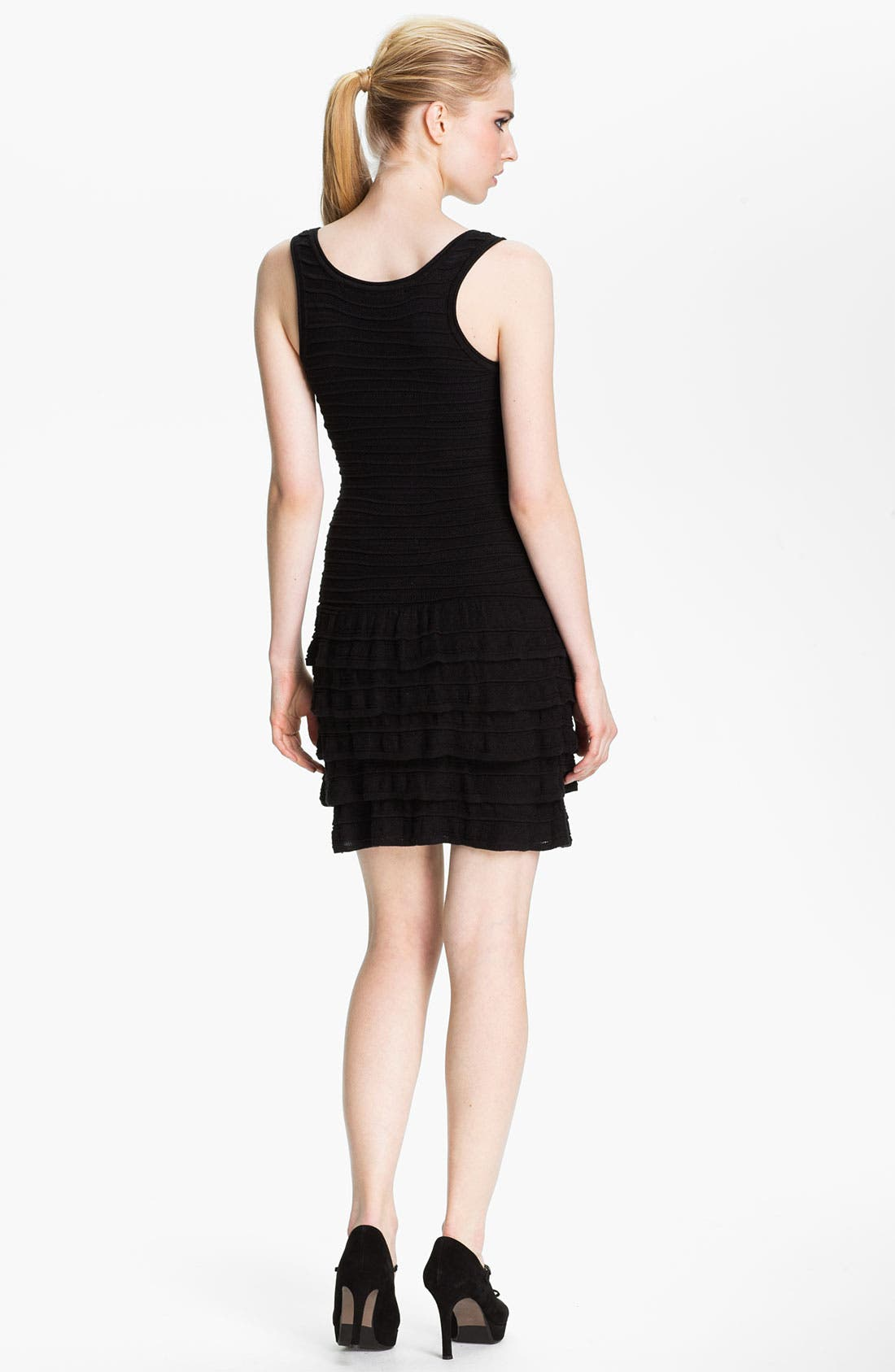 Alternate Image 2  - Cut25 Cable Knit Ruffle Tank Dress
