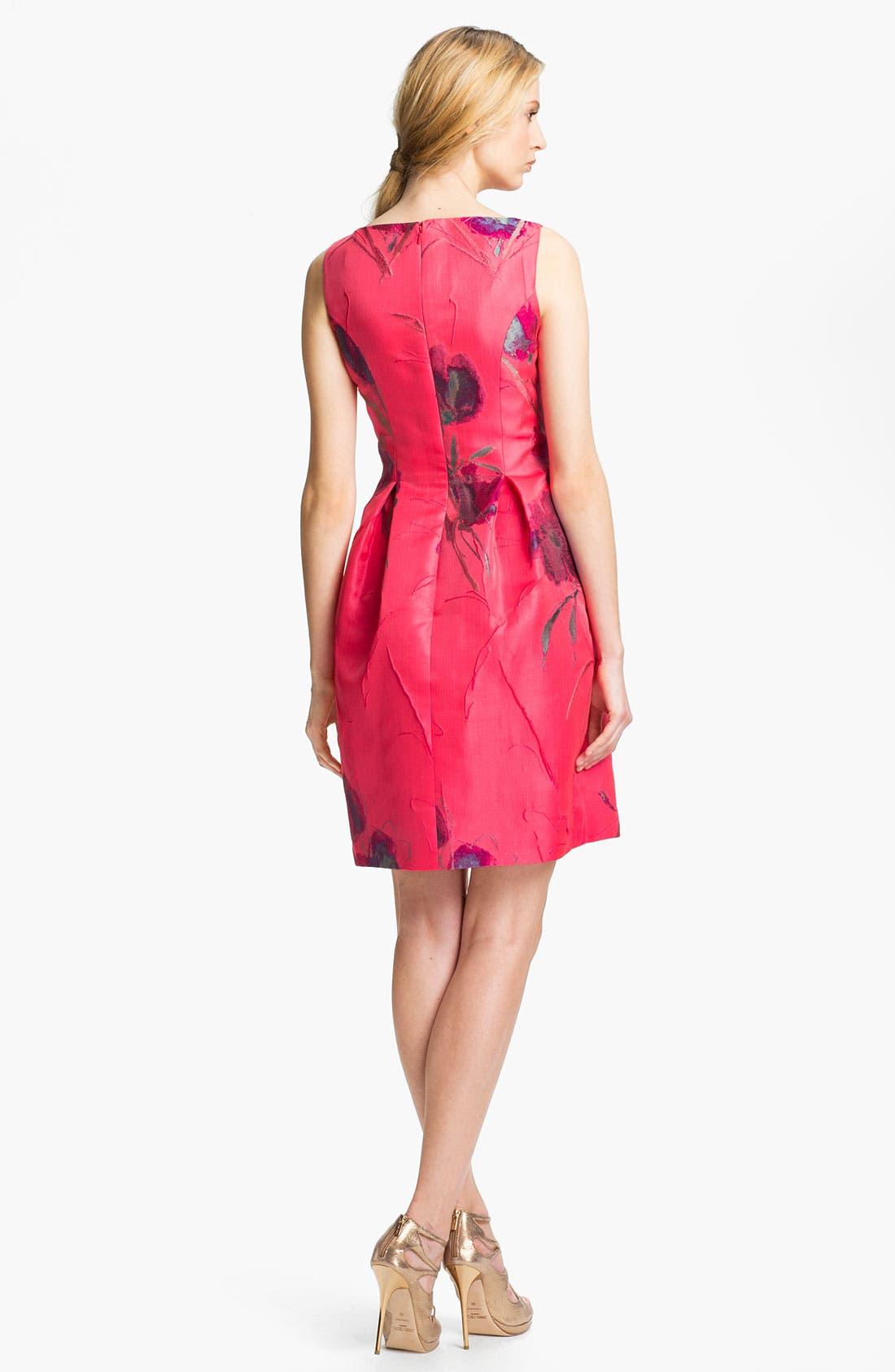 Alternate Image 2  - Lela Rose Boatneck Dress