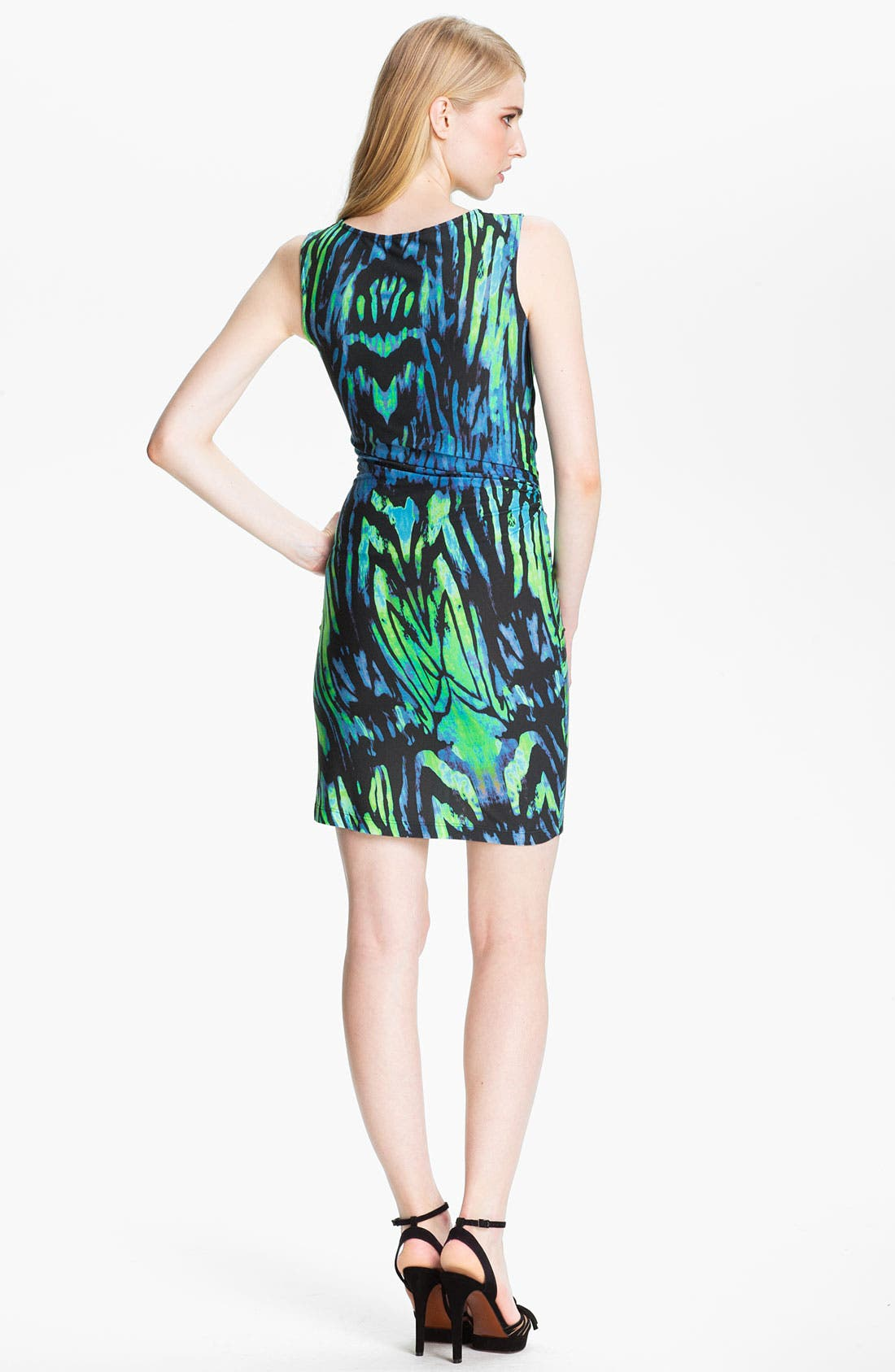 Alternate Image 2  - Halston Heritage Twist Front Jersey Sheath Dress