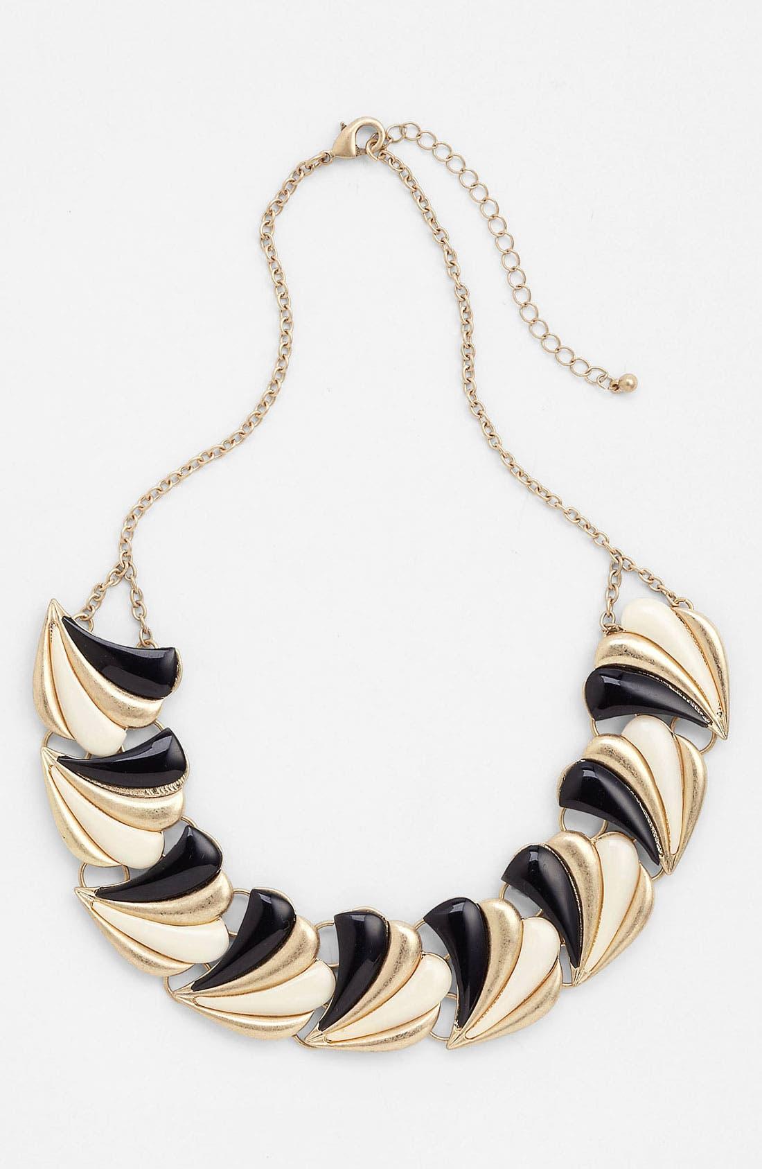 Main Image - Panacea Black & White Collar Necklace