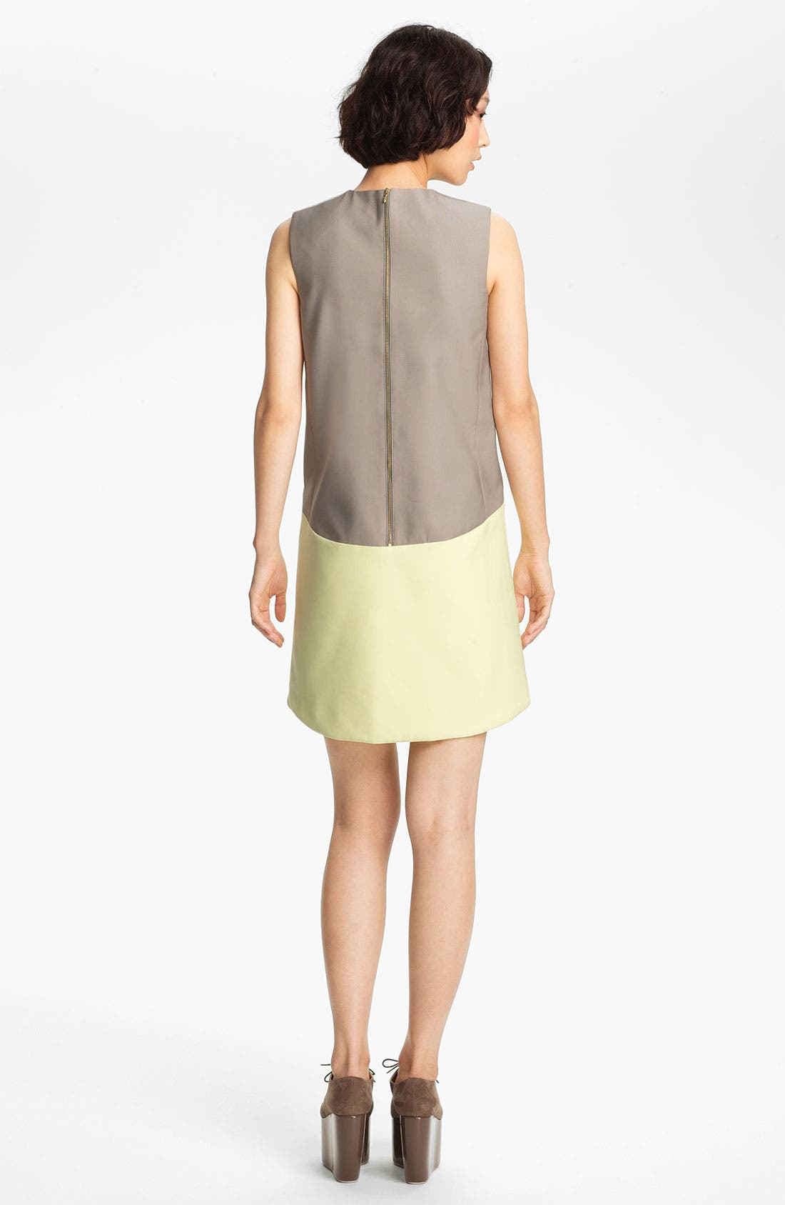 Alternate Image 2  - Victoria, Victoria Beckham 'Dry Scrunch' Shift Dress