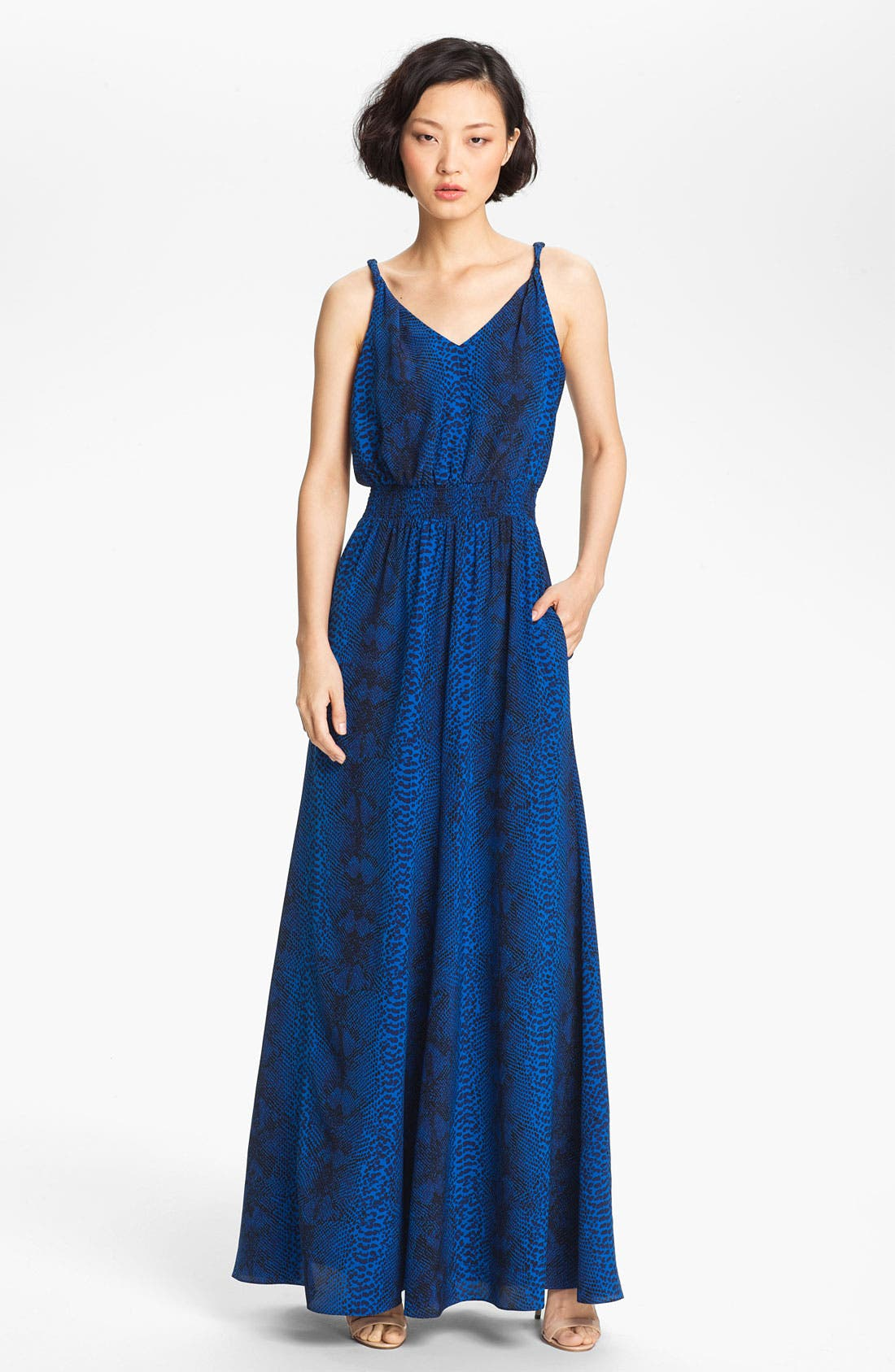 Main Image - Jay Godfrey 'Powell' Twisted Strap Silk Maxi Dress (Nordstrom Exclusive)