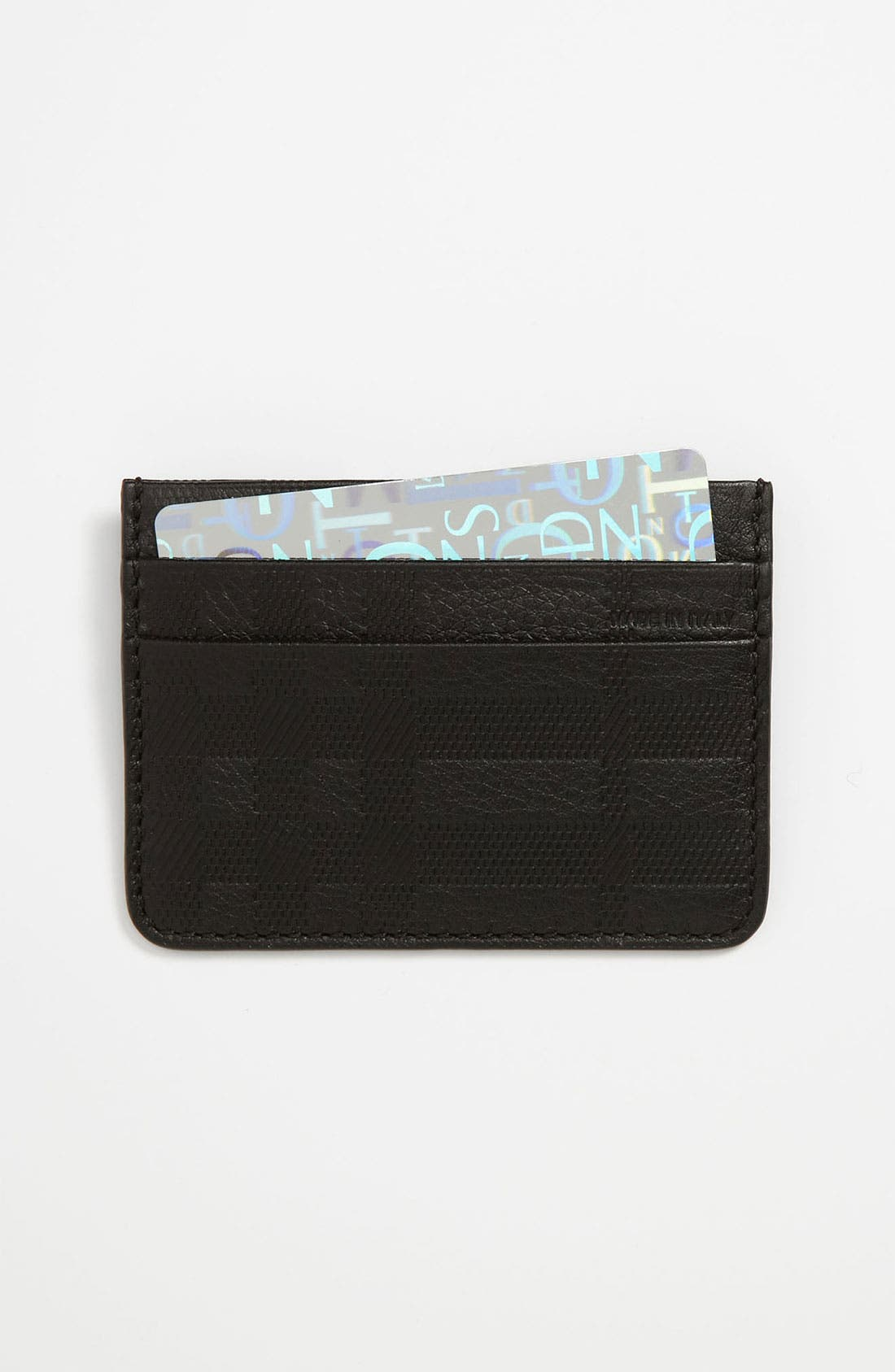 Alternate Image 1 Selected - Burberry Leather Credit Card Case