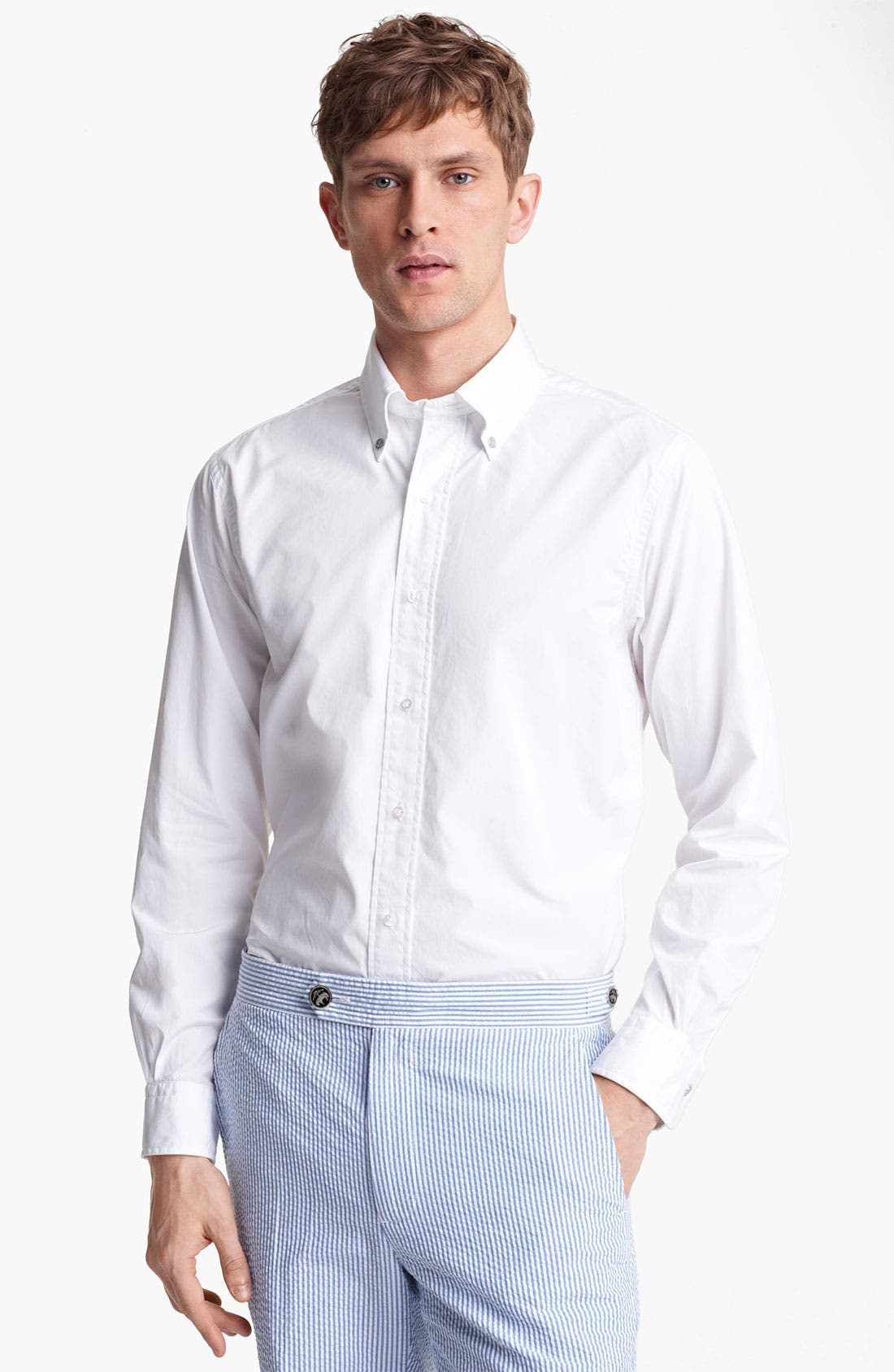 Main Image - Brooks Brothers by Jeffrey Woven Broadcloth Shirt