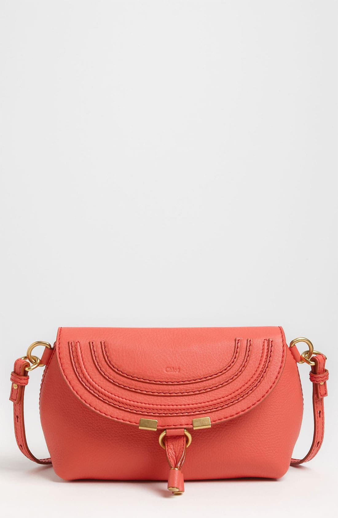 Main Image - Chloé 'Marcie' Calfskin Leather Crossbody Bag