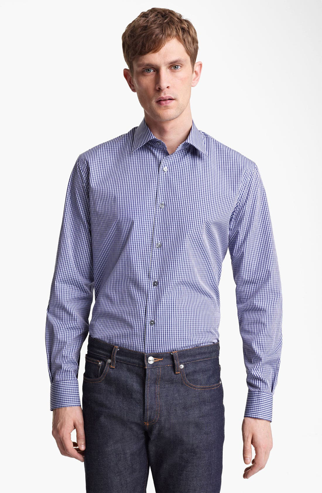 Alternate Image 1 Selected - Paul Smith London Micro Gingham Shirt