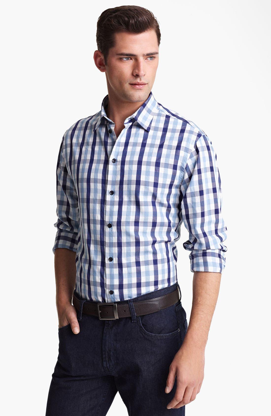 Alternate Image 1 Selected - Armani Collezioni Double Face Cotton Sport Shirt
